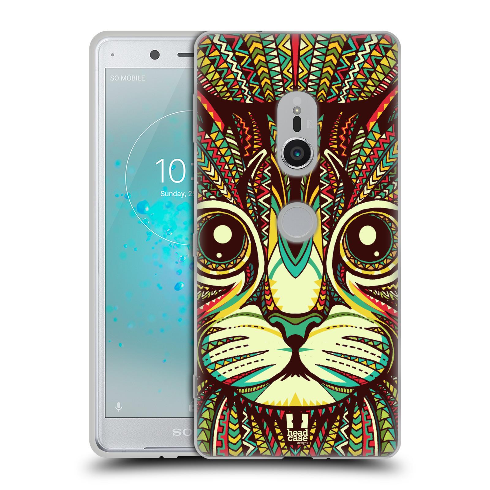 Silikonové pouzdro na mobil Sony Xperia XZ2 - Head Case - AZTEC KOČKA