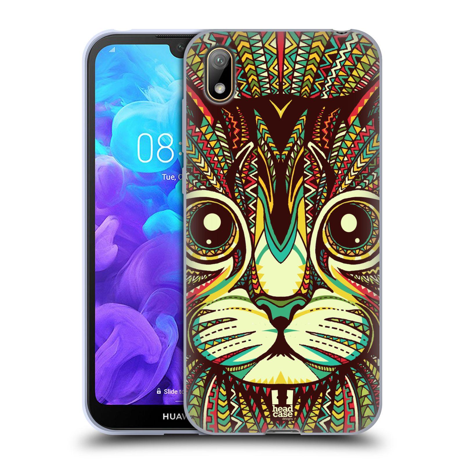 Silikonové pouzdro na mobil Huawei Y5 (2019) - Head Case - AZTEC KOČKA