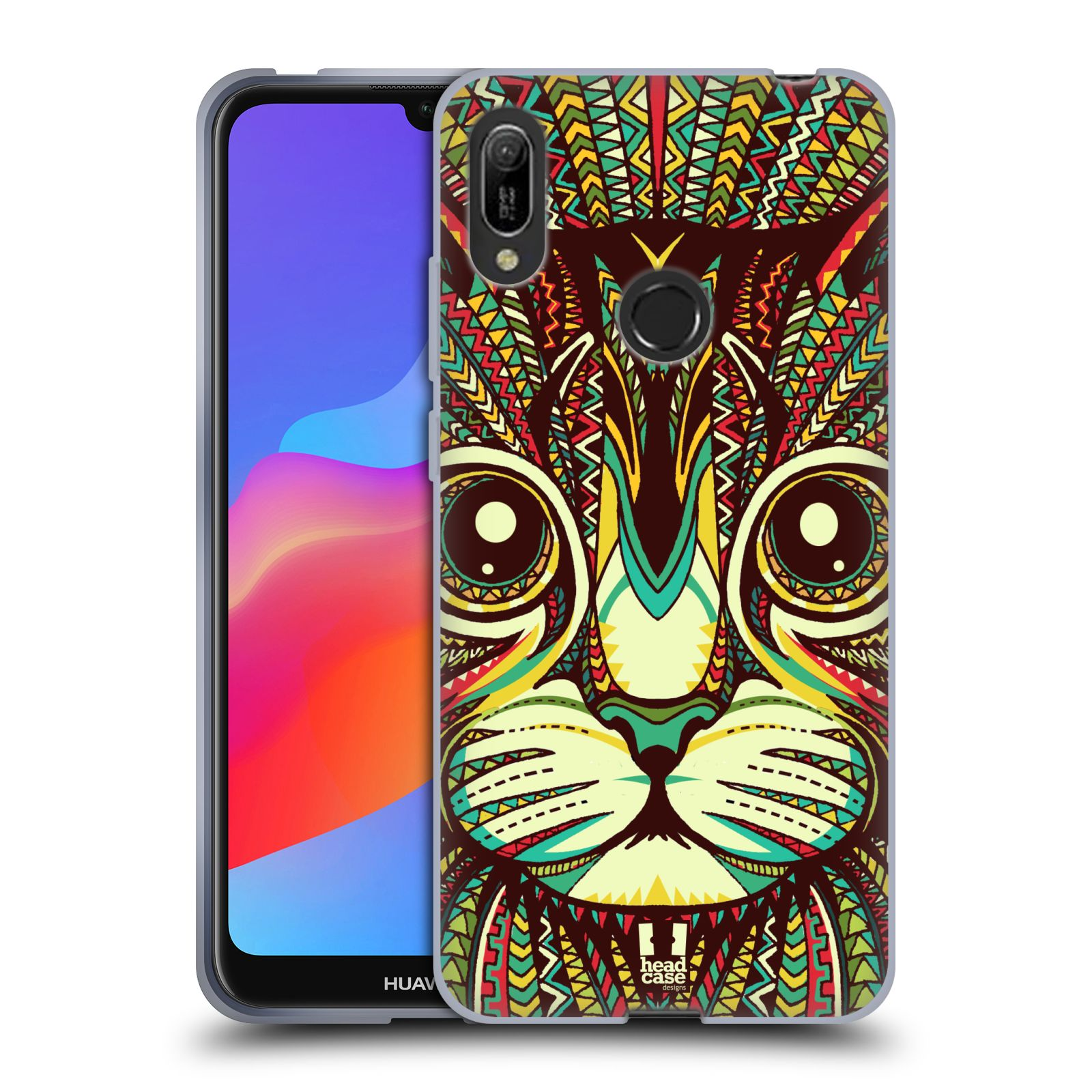 Silikonové pouzdro na mobil Huawei Y6 (2019) - Head Case - AZTEC KOČKA