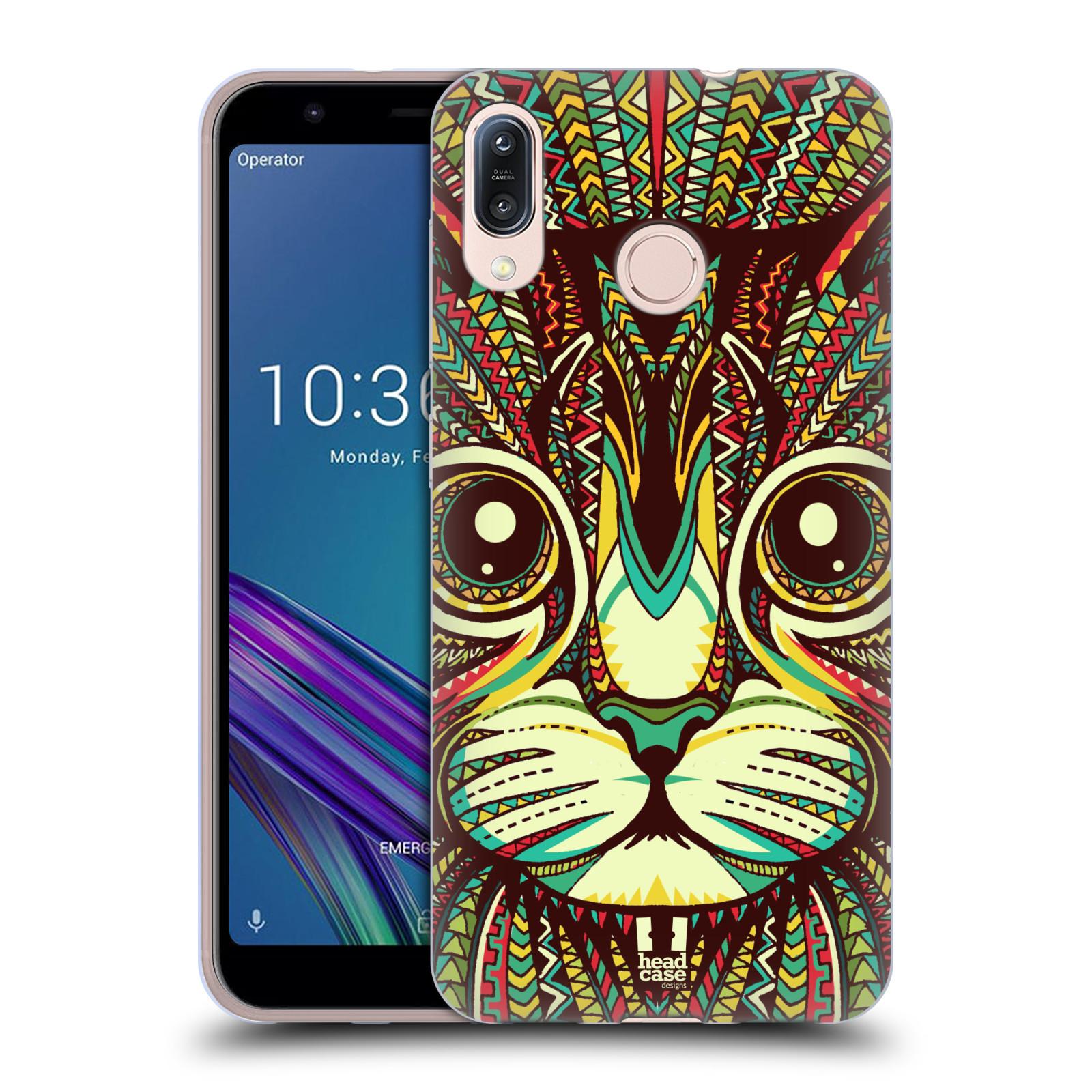 Silikonové pouzdro na mobil Asus Zenfone Max M1 ZB555KL - Head Case - AZTEC KOČKA