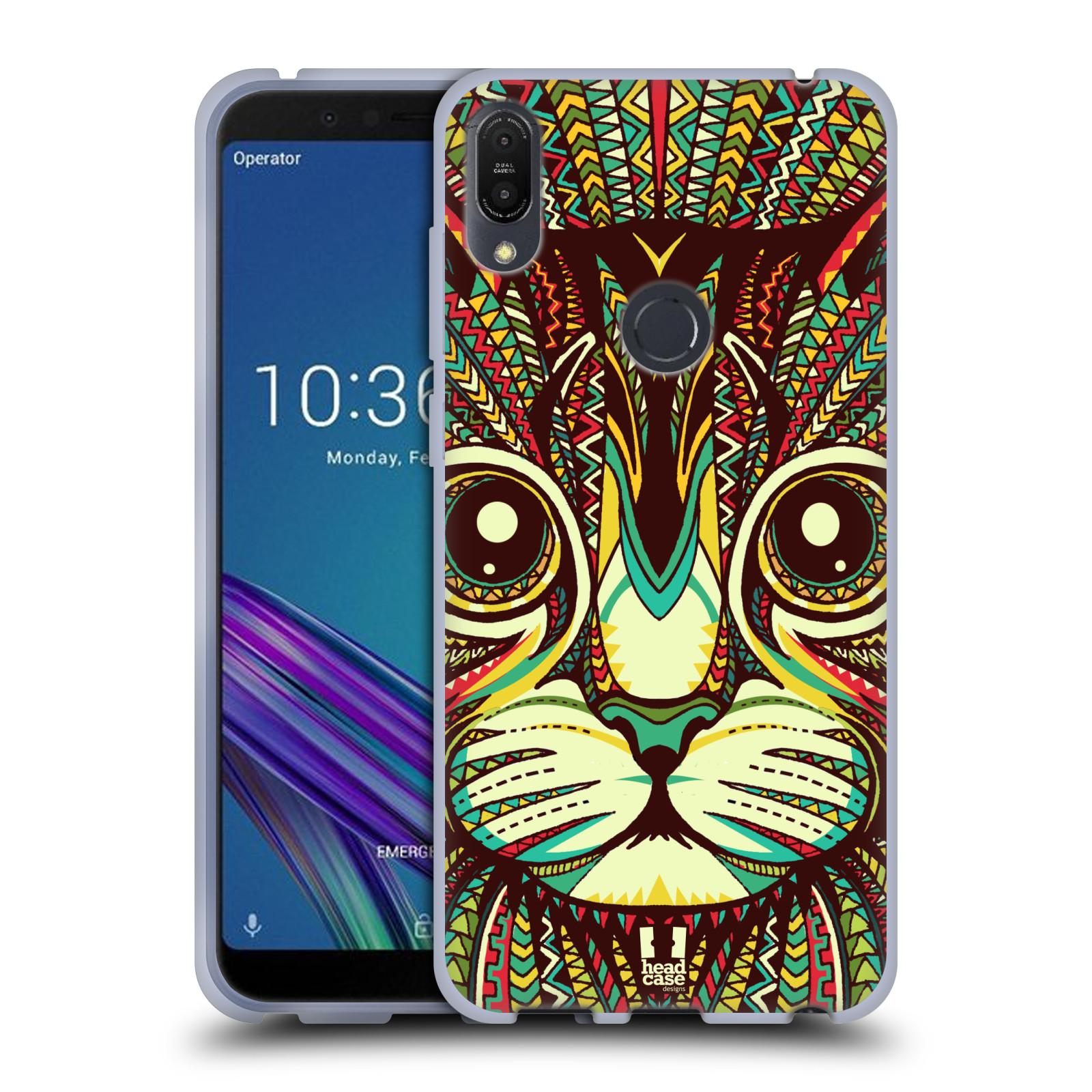 Silikonové pouzdro na mobil Asus ZenFone Max Pro (M1) - Head Case - AZTEC KOČKA