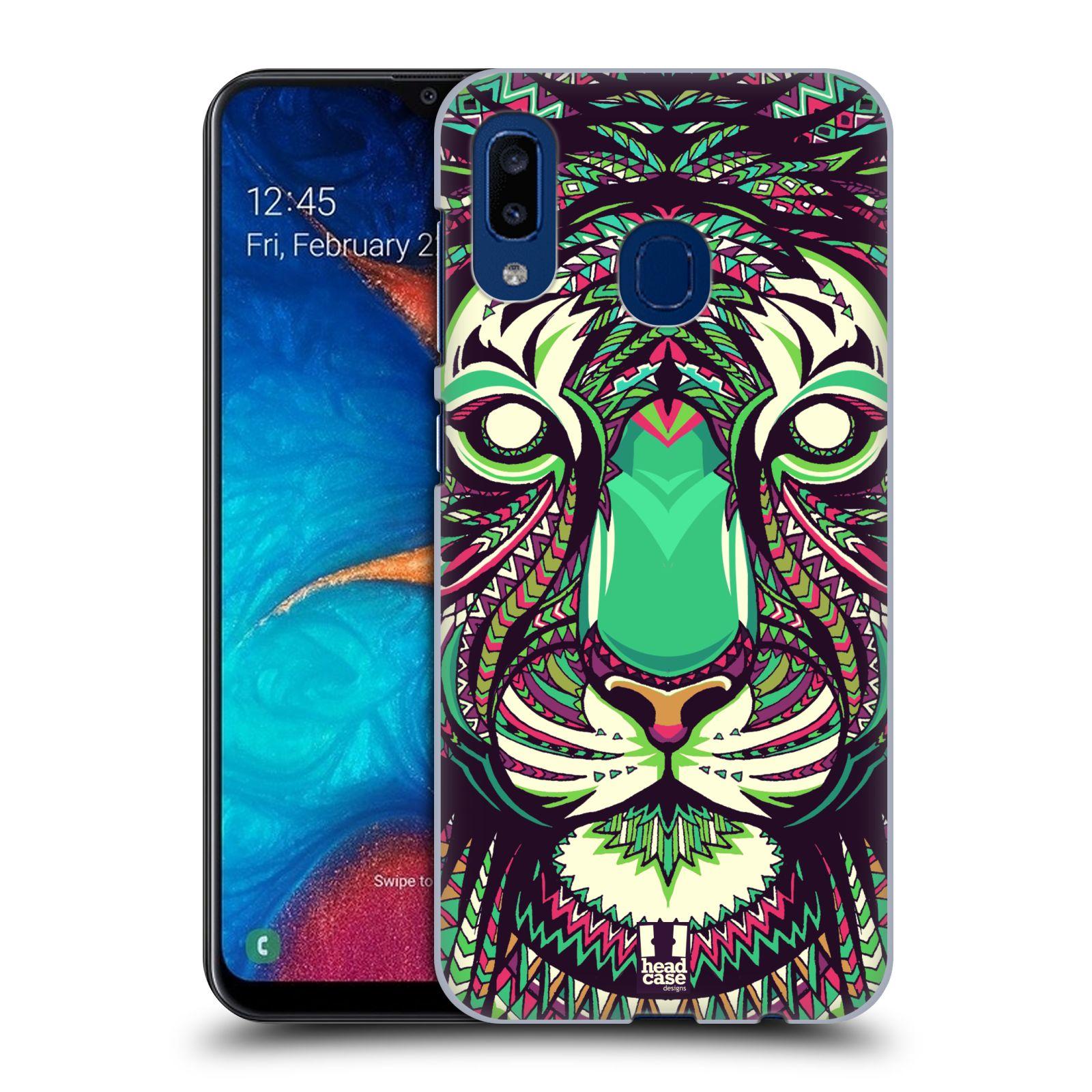 Plastové pouzdro na mobil Samsung Galaxy A20 - Head Case - AZTEC TYGR