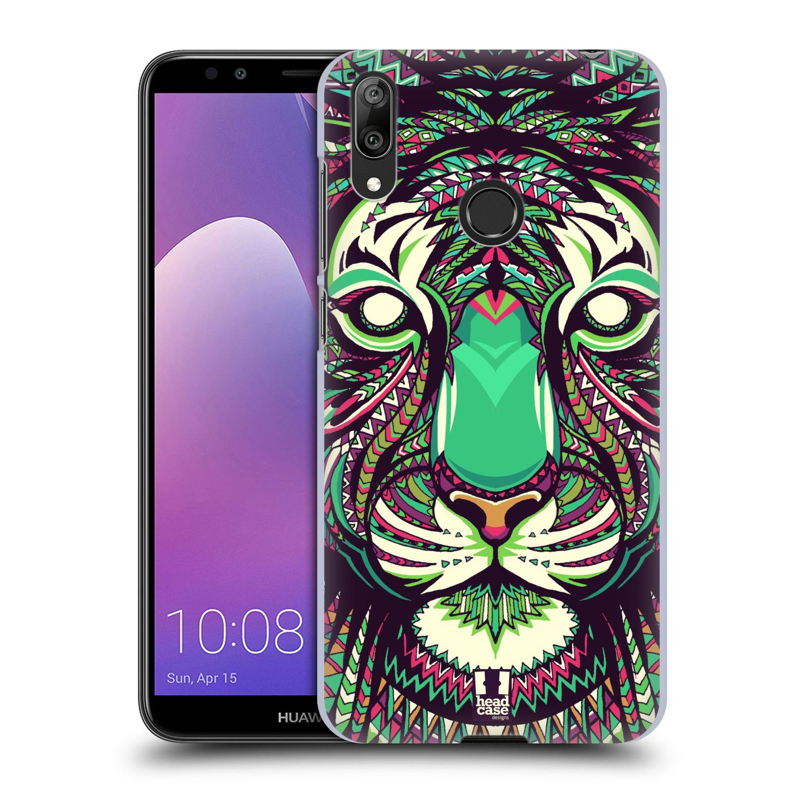 Plastové pouzdro na mobil Huawei Y7 (2019) - Head Case - AZTEC TYGR