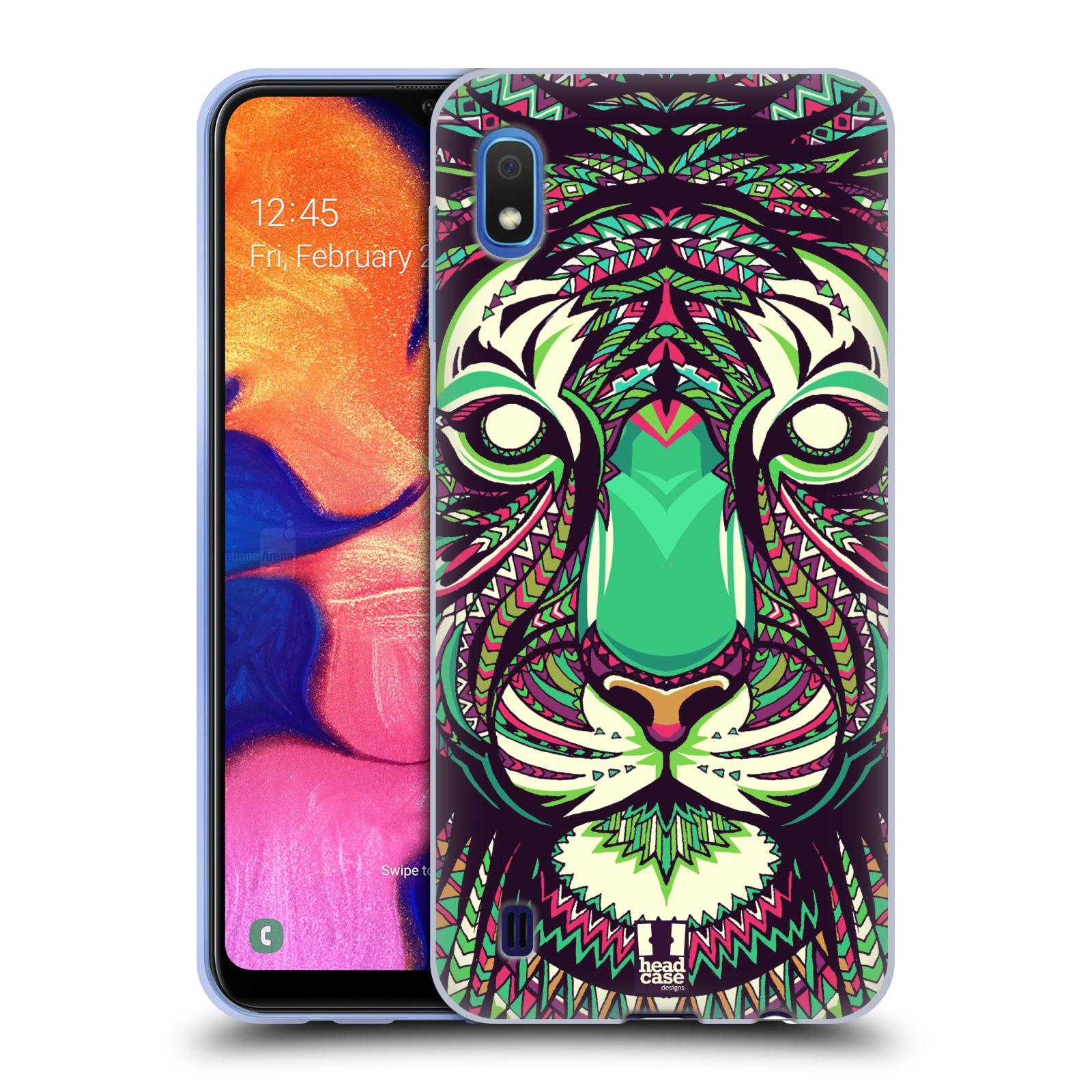 Silikonové pouzdro na mobil Samsung Galaxy A10 - Head Case - AZTEC TYGR
