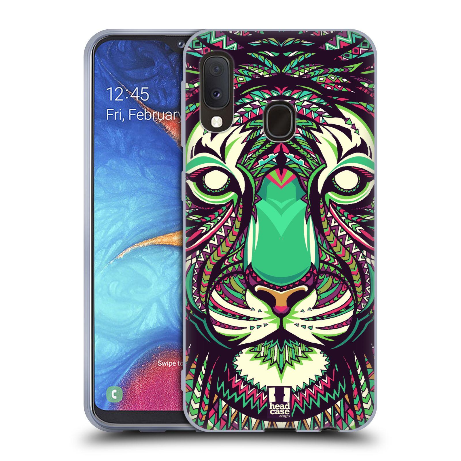 Silikonové pouzdro na mobil Samsung Galaxy A20e - Head Case - AZTEC TYGR