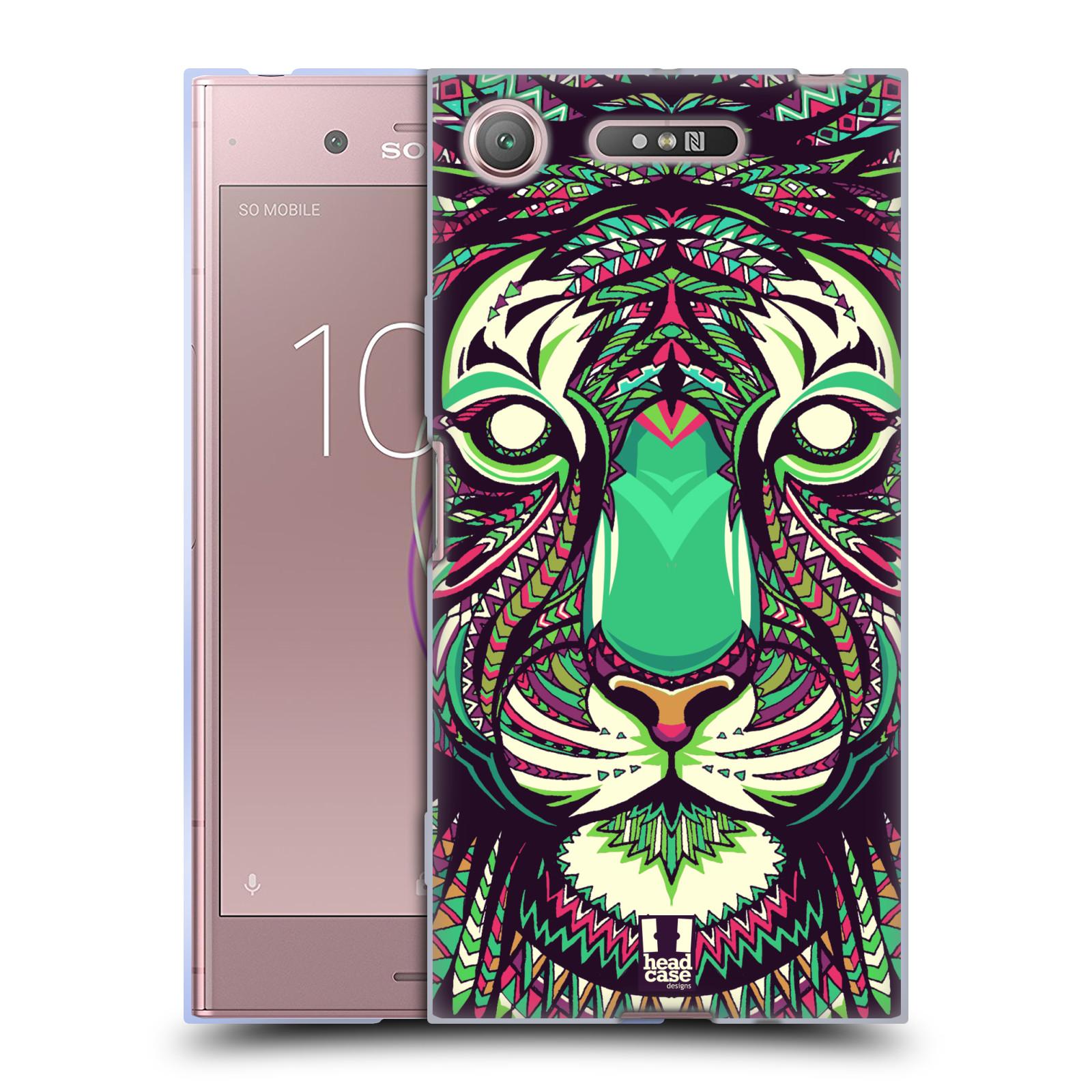 Silikonové pouzdro na mobil Sony Xperia XZ1 - Head Case - AZTEC TYGR