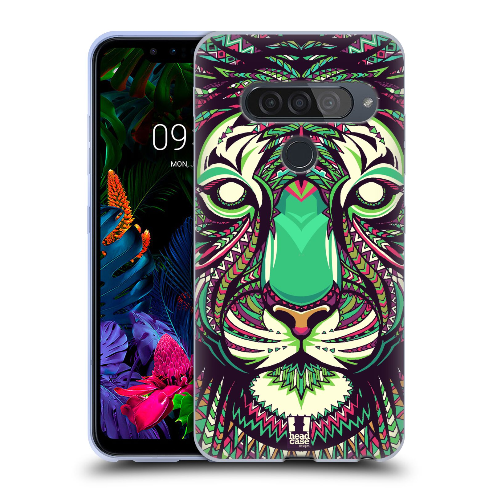 Silikonové pouzdro na mobil LG G8s ThinQ - Head Case - AZTEC TYGR