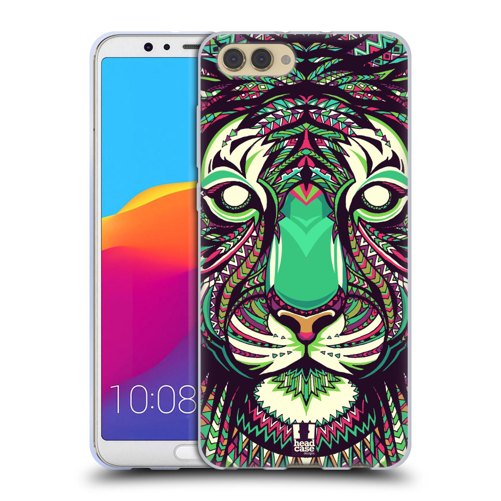 Silikonové pouzdro na mobil Honor View 10 - Head Case - AZTEC TYGR