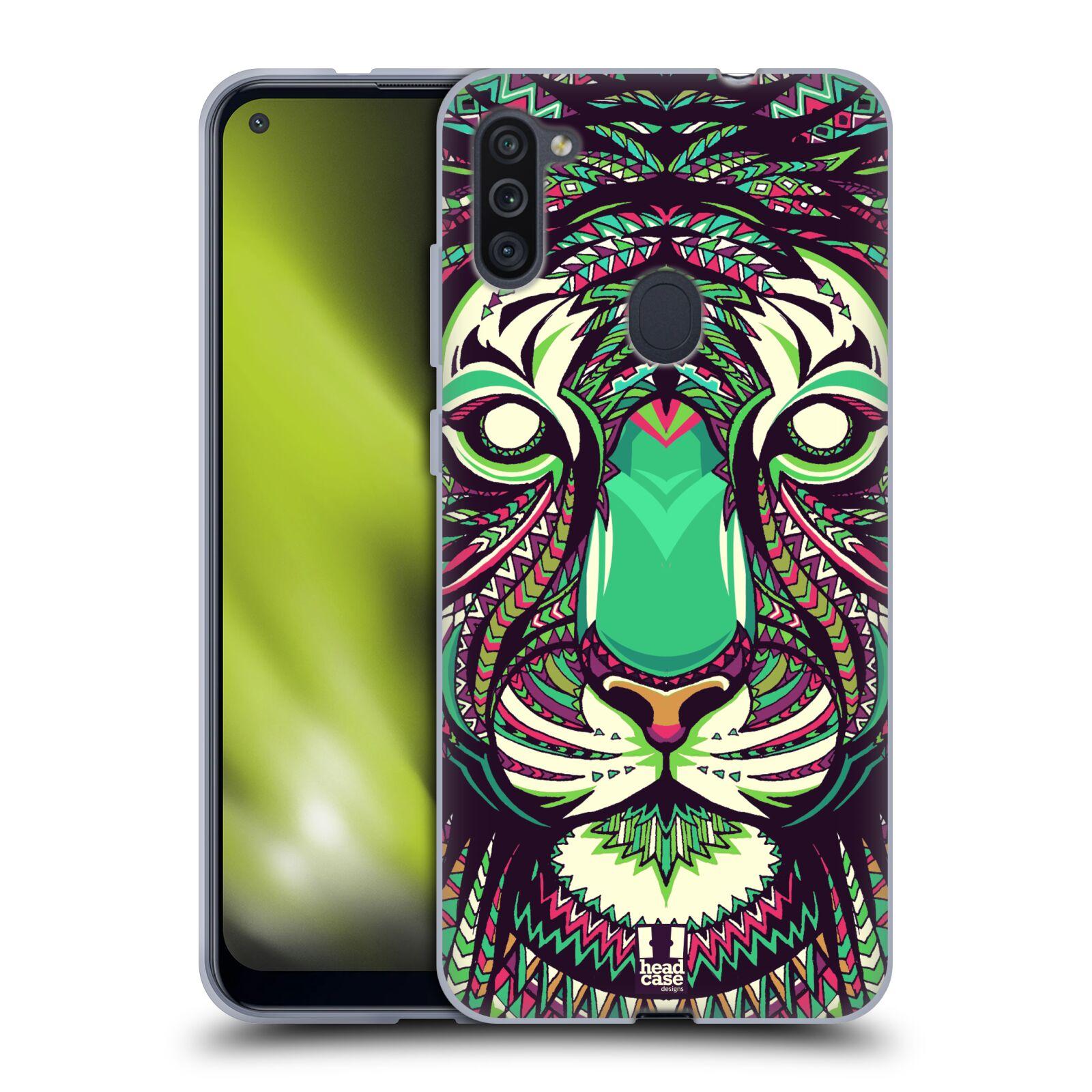 Silikonové pouzdro na mobil Samsung Galaxy M11 - Head Case - AZTEC TYGR