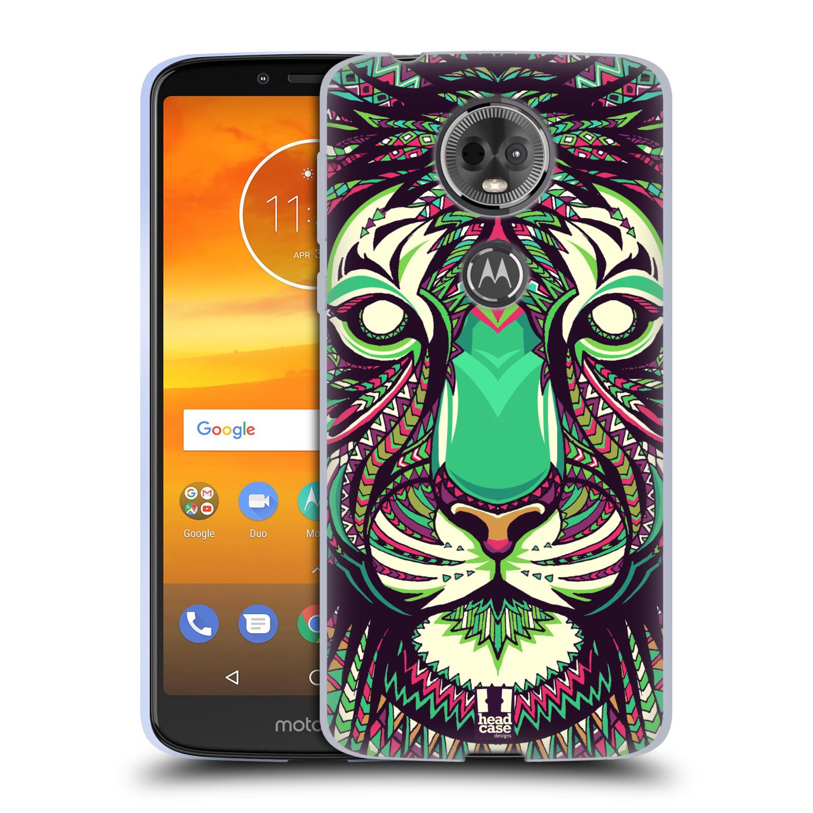 Silikonové pouzdro na mobil Motorola Moto E5 Plus - Head Case - AZTEC TYGR
