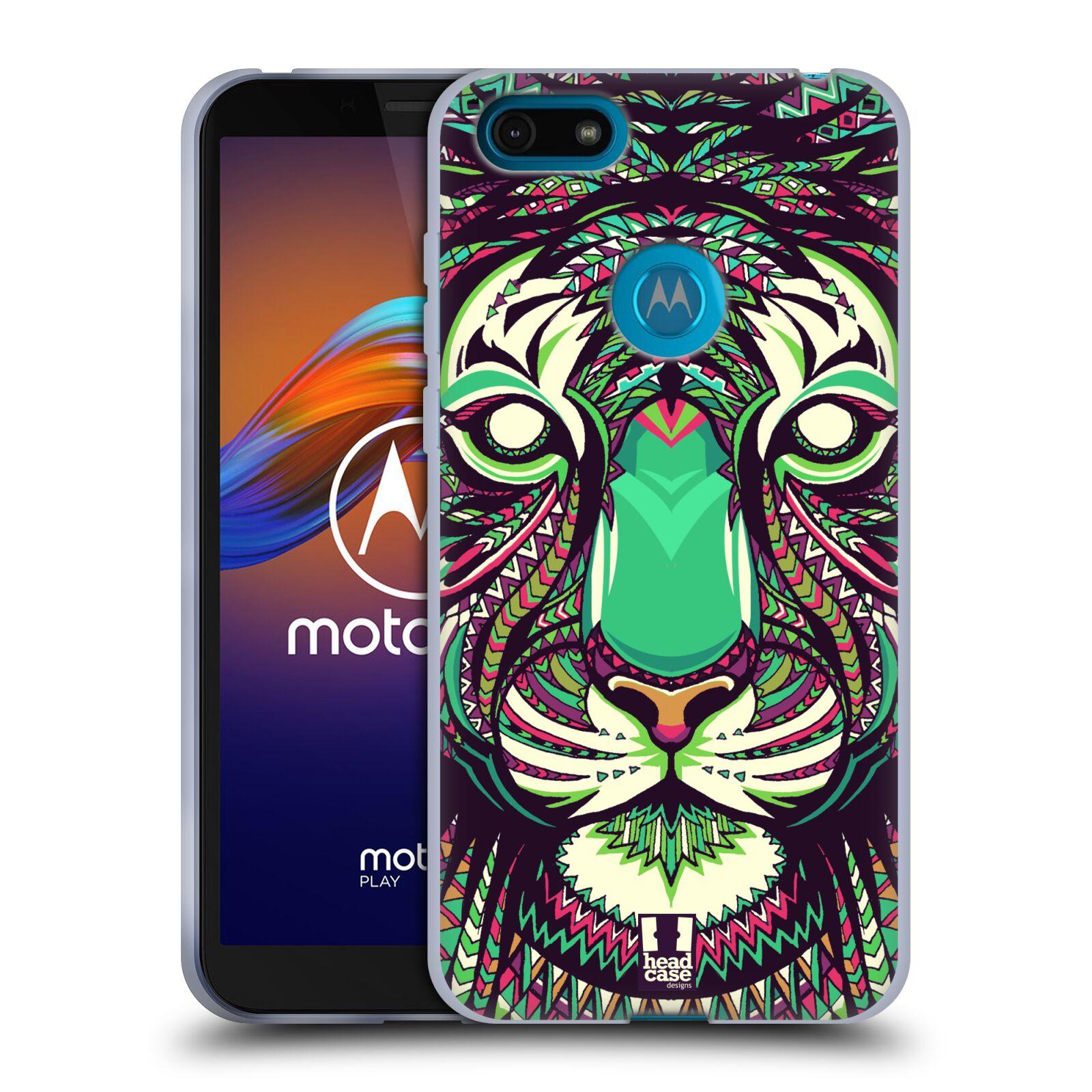Silikonové pouzdro na mobil Motorola Moto E6 Play - Head Case - AZTEC TYGR