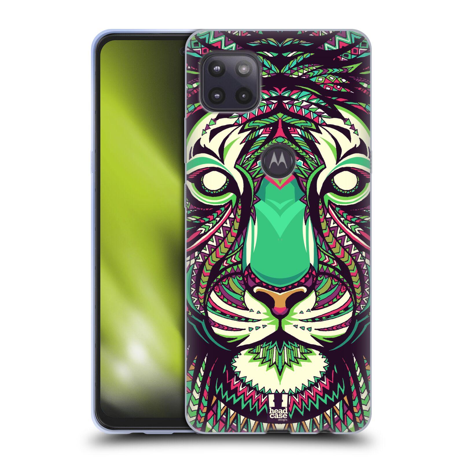 Silikonové pouzdro na mobil Motorola Moto G 5G - Head Case - AZTEC TYGR
