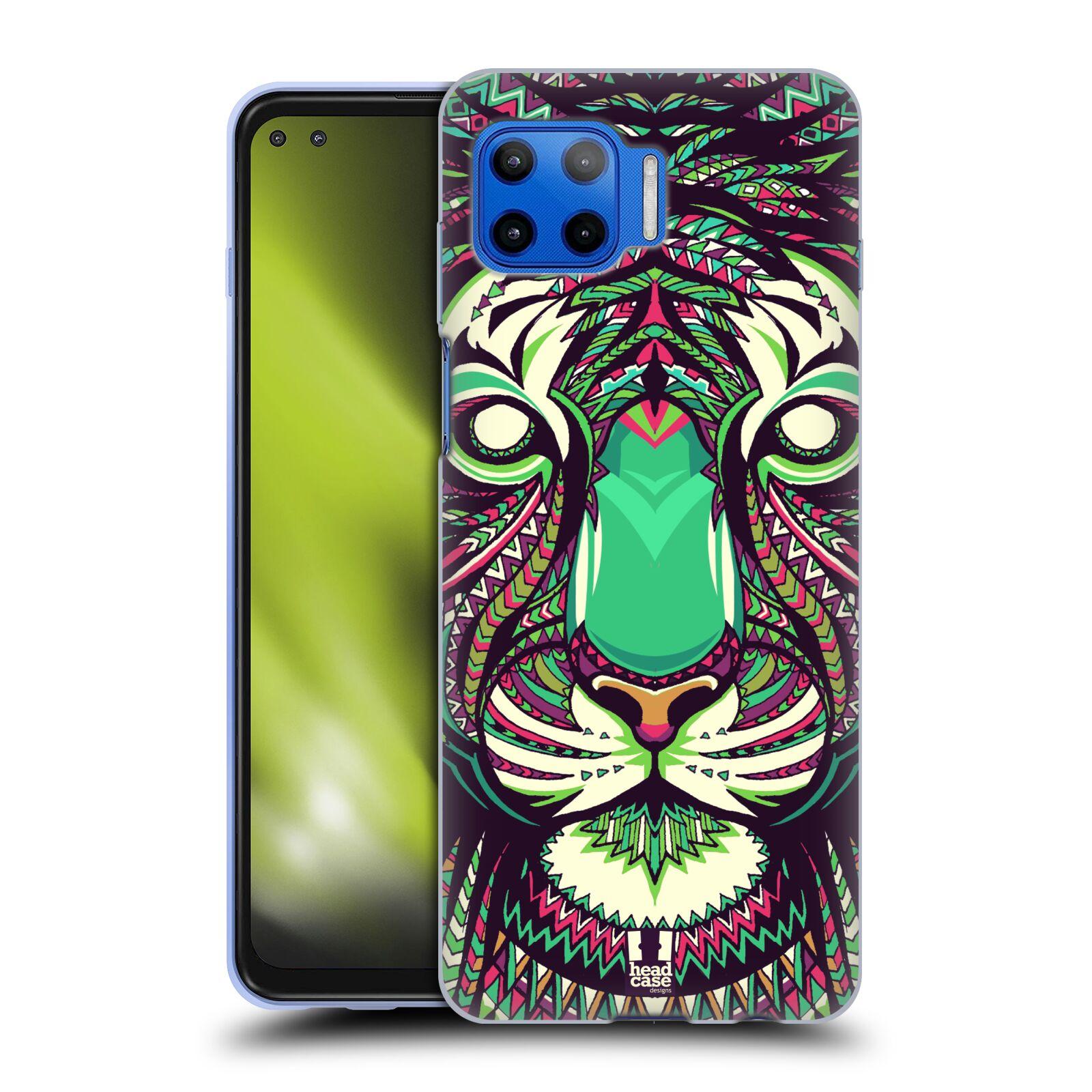 Silikonové pouzdro na mobil Motorola Moto G 5G Plus - Head Case - AZTEC TYGR