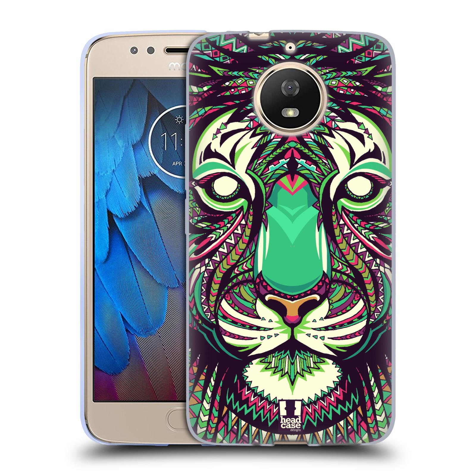 Silikonové pouzdro na mobil Lenovo Moto G5s - Head Case - AZTEC TYGR