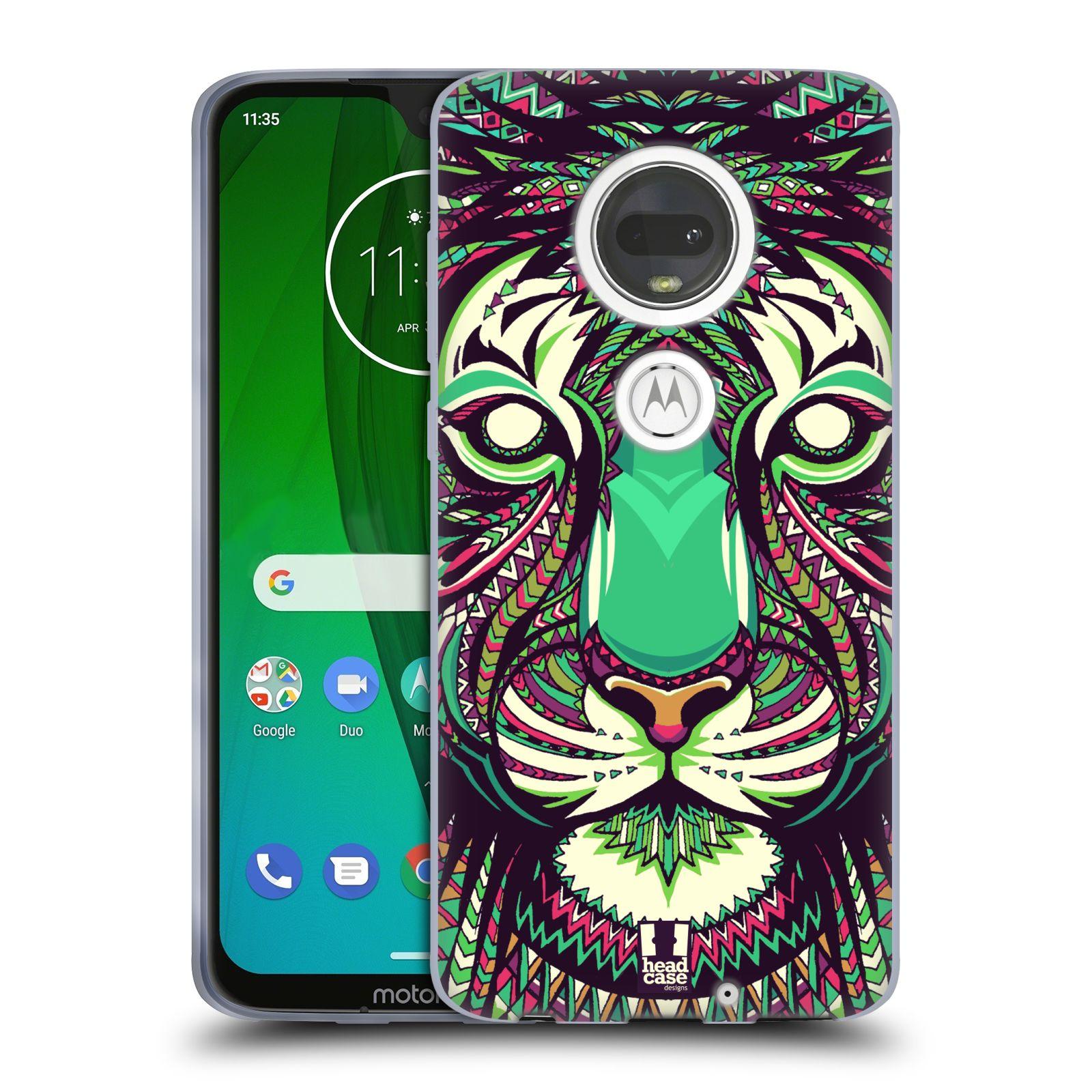 Silikonové pouzdro na mobil Motorola Moto G7 - Head Case - AZTEC TYGR