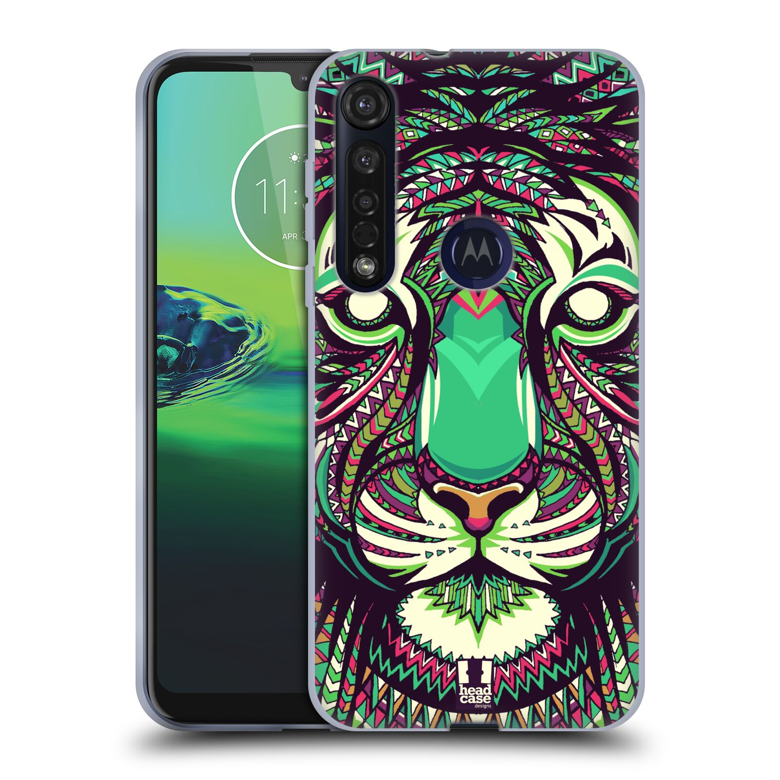 Silikonové pouzdro na mobil Motorola Moto G8 Plus - Head Case - AZTEC TYGR