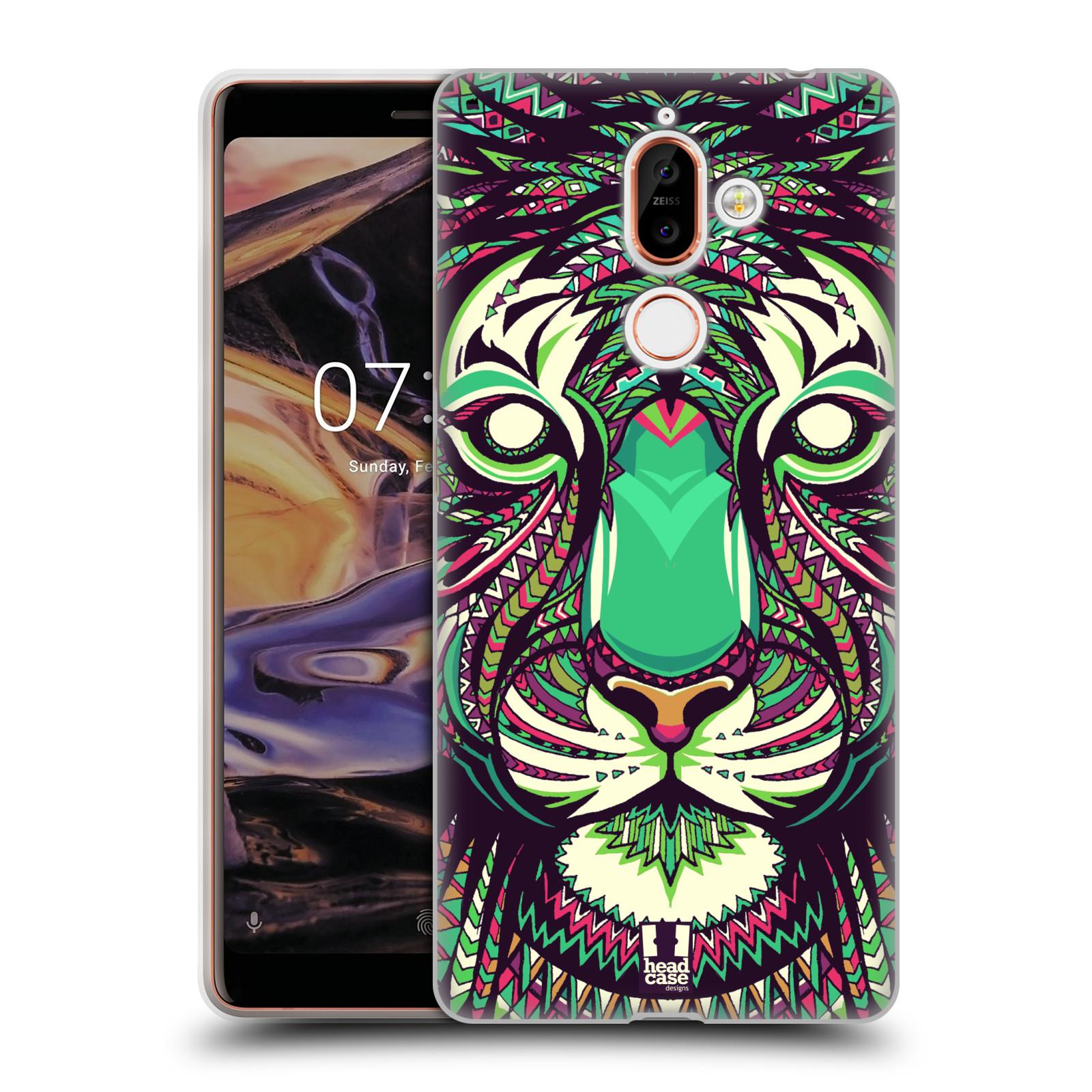 Silikonové pouzdro na mobil Nokia 7 Plus - Head Case - AZTEC TYGR