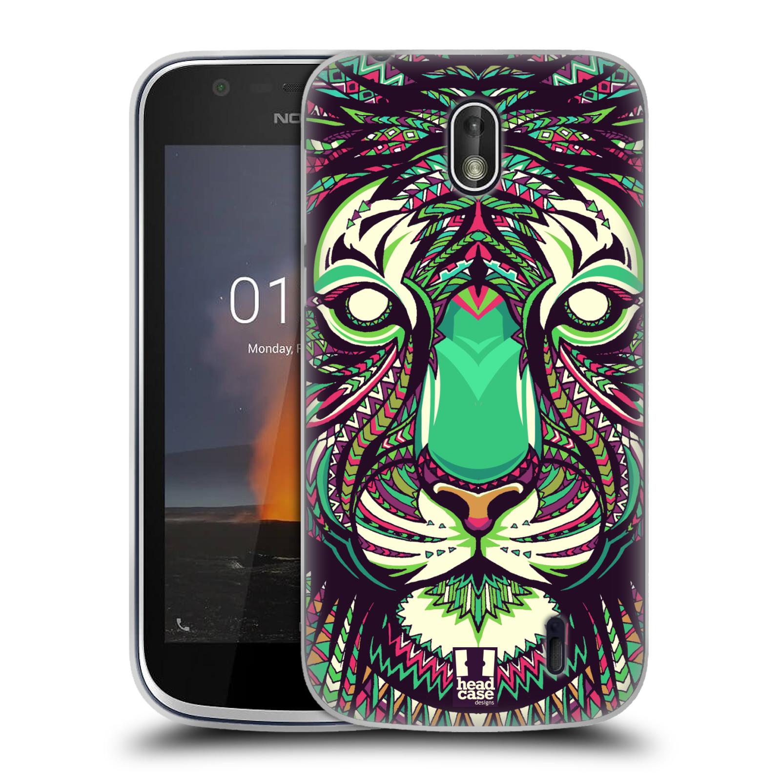 Silikonové pouzdro na mobil Nokia 1 - Head Case - AZTEC TYGR