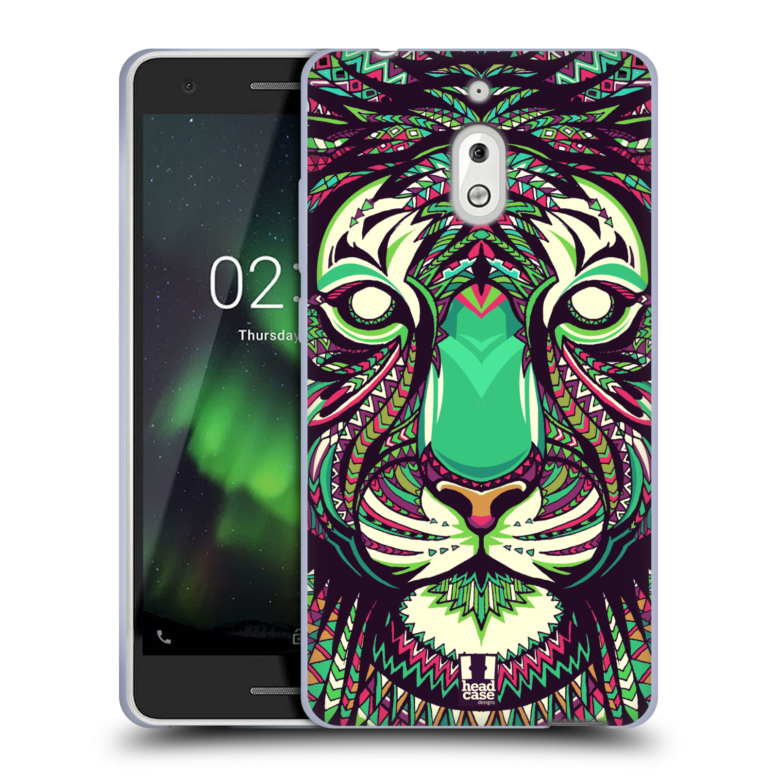 Silikonové pouzdro na mobil Nokia 2.1 - Head Case - AZTEC TYGR