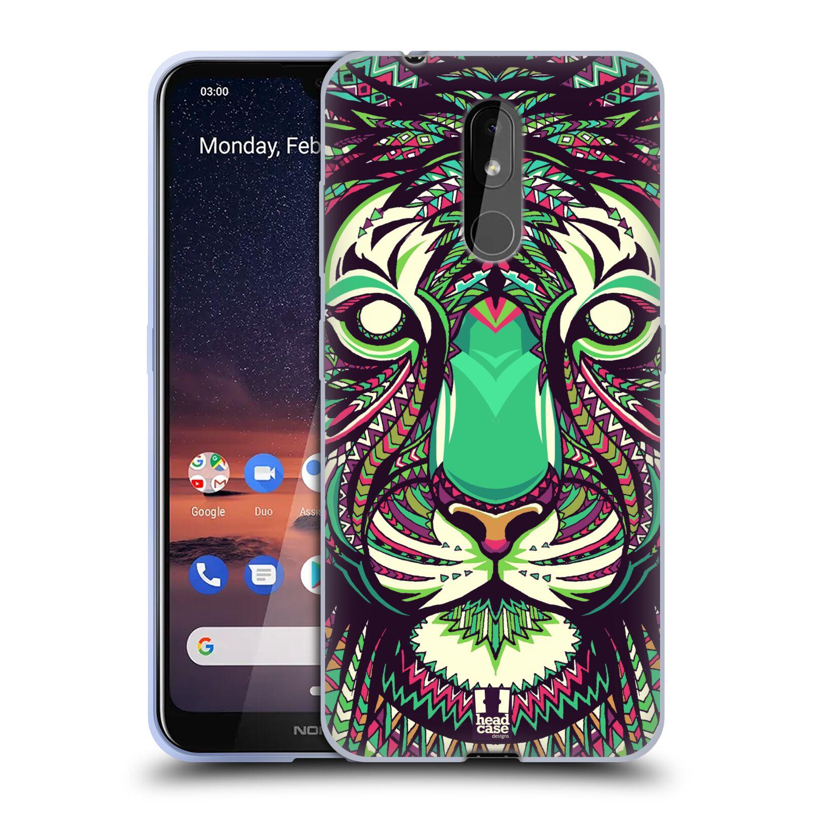 Silikonové pouzdro na mobil Nokia 3.2 - Head Case - AZTEC TYGR