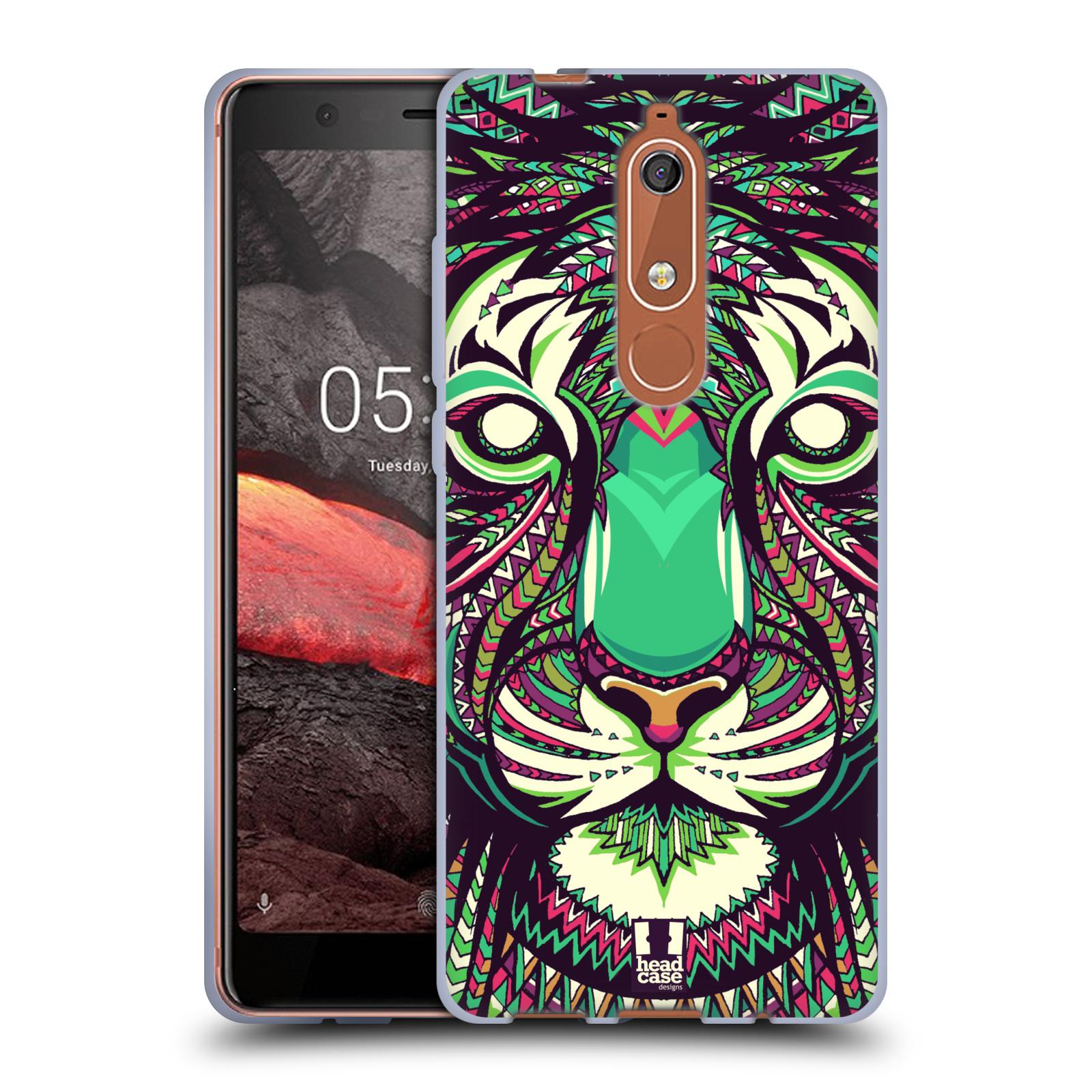 Silikonové pouzdro na mobil Nokia 5.1 - Head Case - AZTEC TYGR