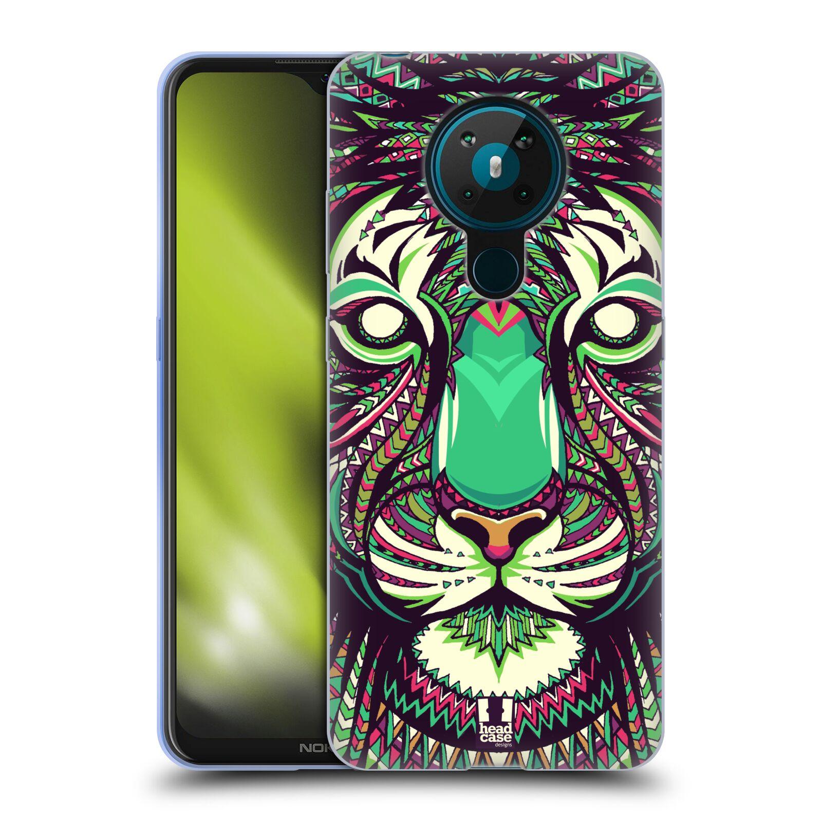 Silikonové pouzdro na mobil Nokia 5.3 - Head Case - AZTEC TYGR