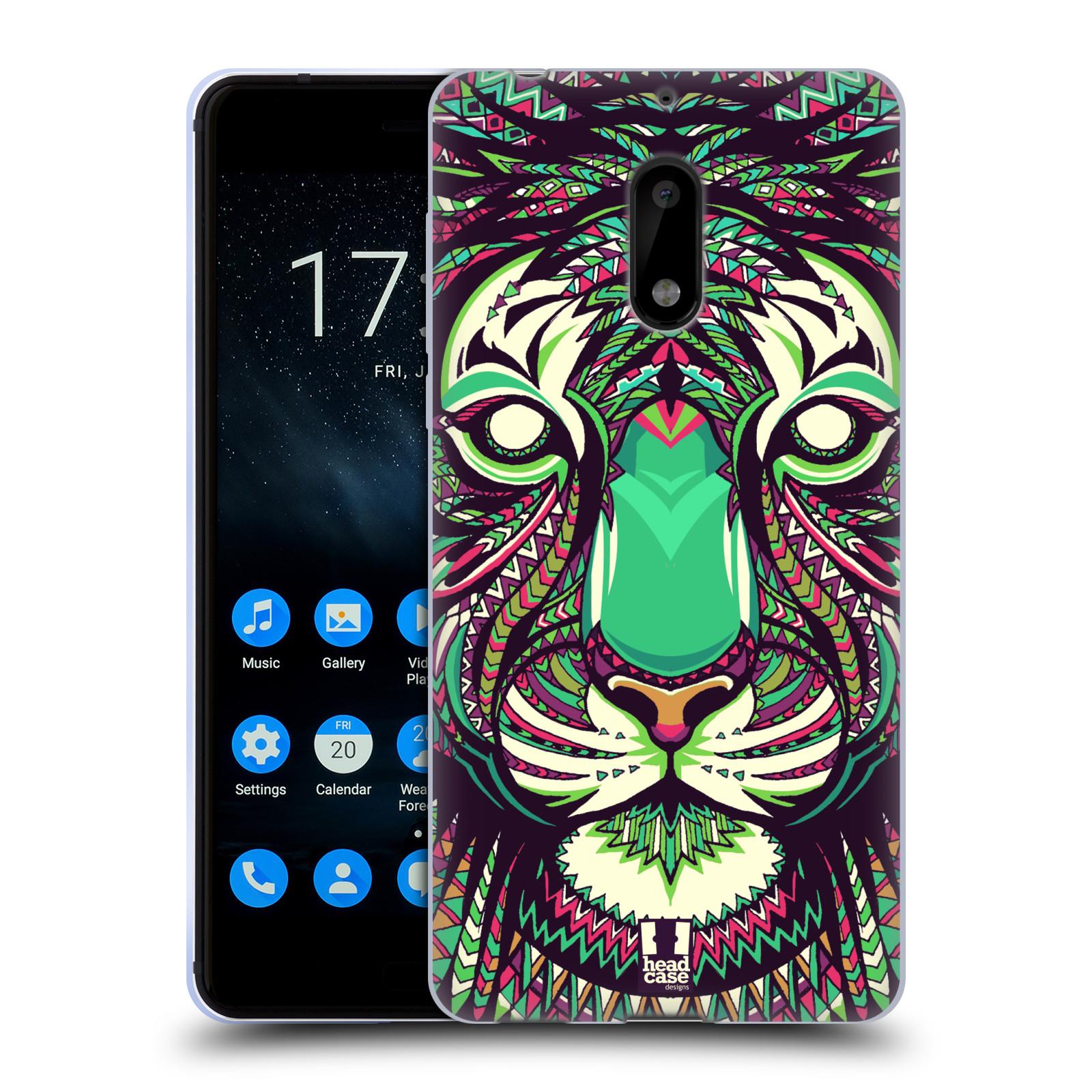 Silikonové pouzdro na mobil Nokia 6 - Head Case - AZTEC TYGR