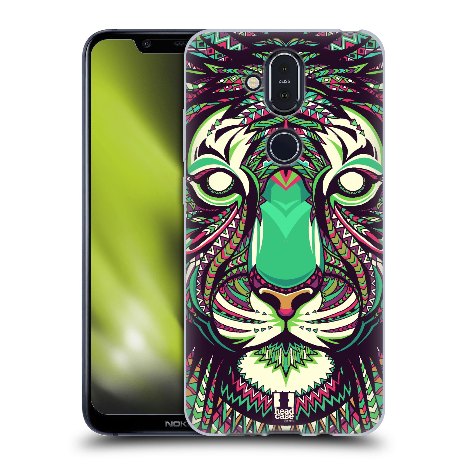 Silikonové pouzdro na mobil Nokia 8.1 - Head Case - AZTEC TYGR