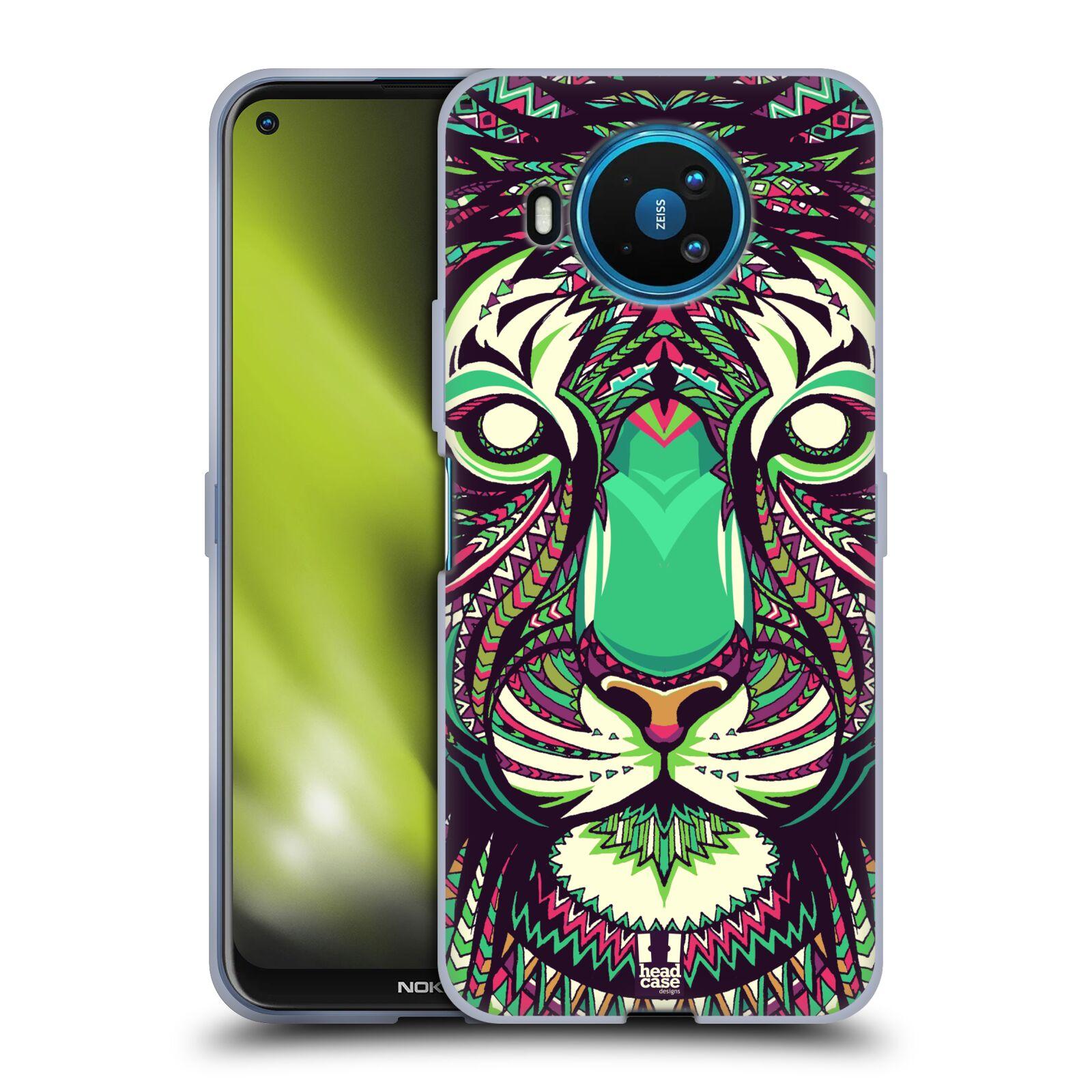 Silikonové pouzdro na mobil Nokia 8.3 5G - Head Case - AZTEC TYGR