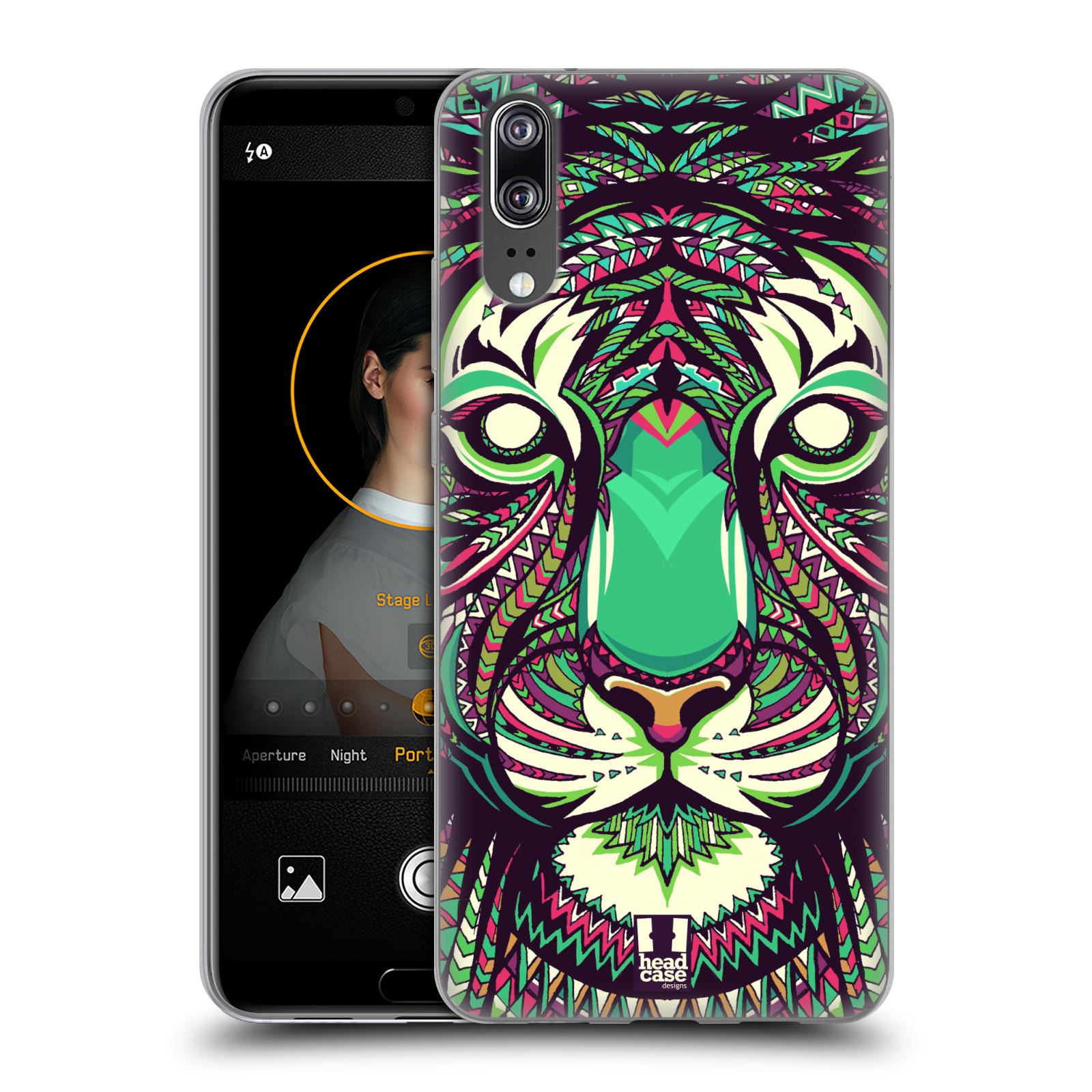 Silikonové pouzdro na mobil Huawei P20 - Head Case - AZTEC TYGR