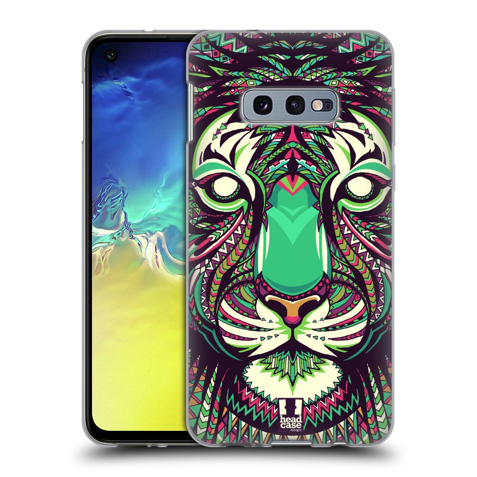 Silikonové pouzdro na mobil Samsung Galaxy S10e - Head Case - AZTEC TYGR