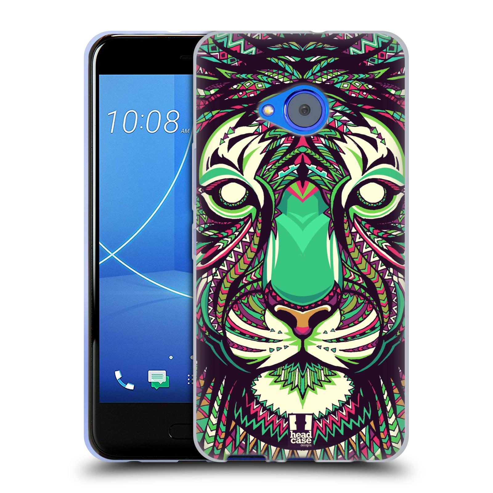 Silikonové pouzdro na mobil HTC U11 Life - Head Case - AZTEC TYGR