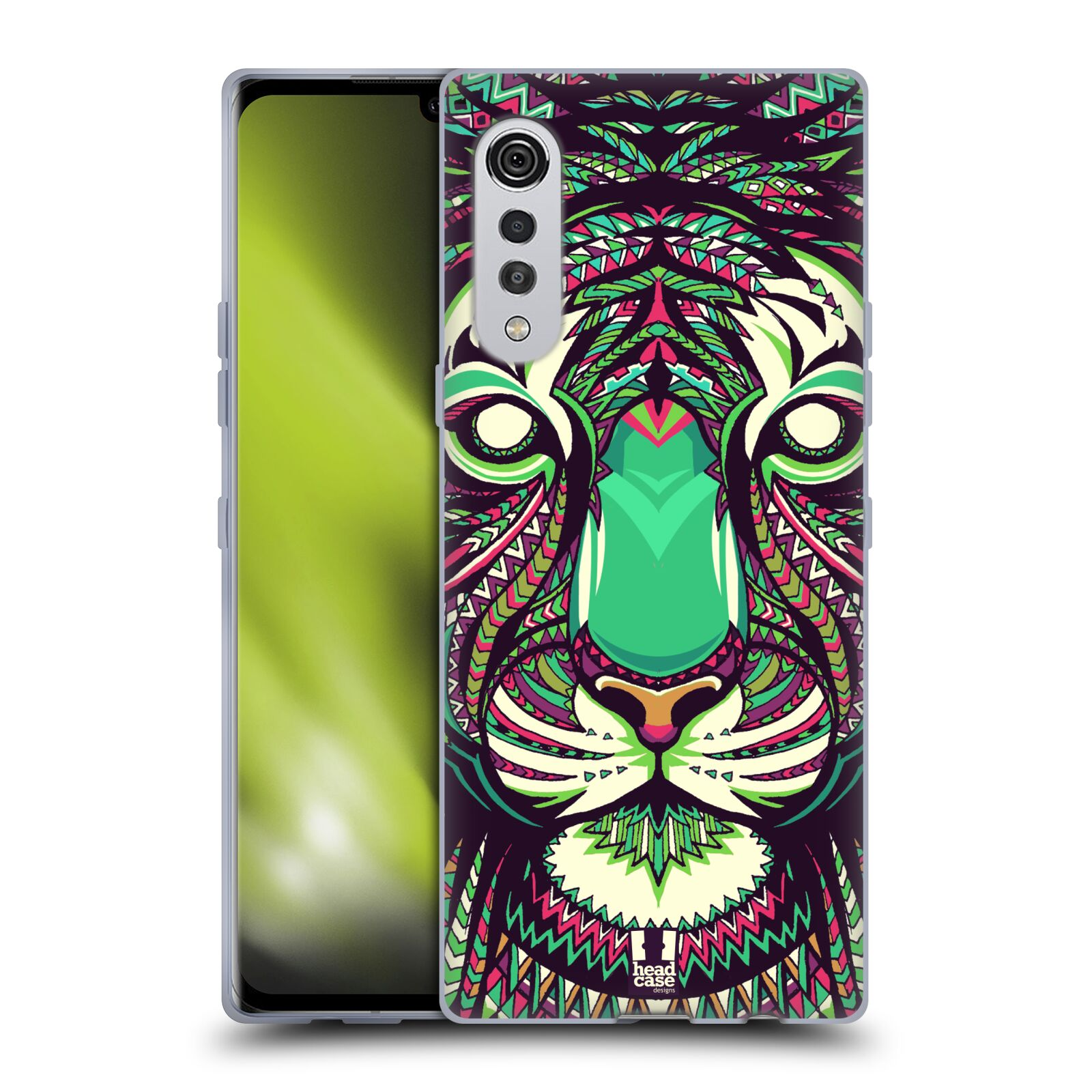 Silikonové pouzdro na mobil LG Velvet - Head Case - AZTEC TYGR