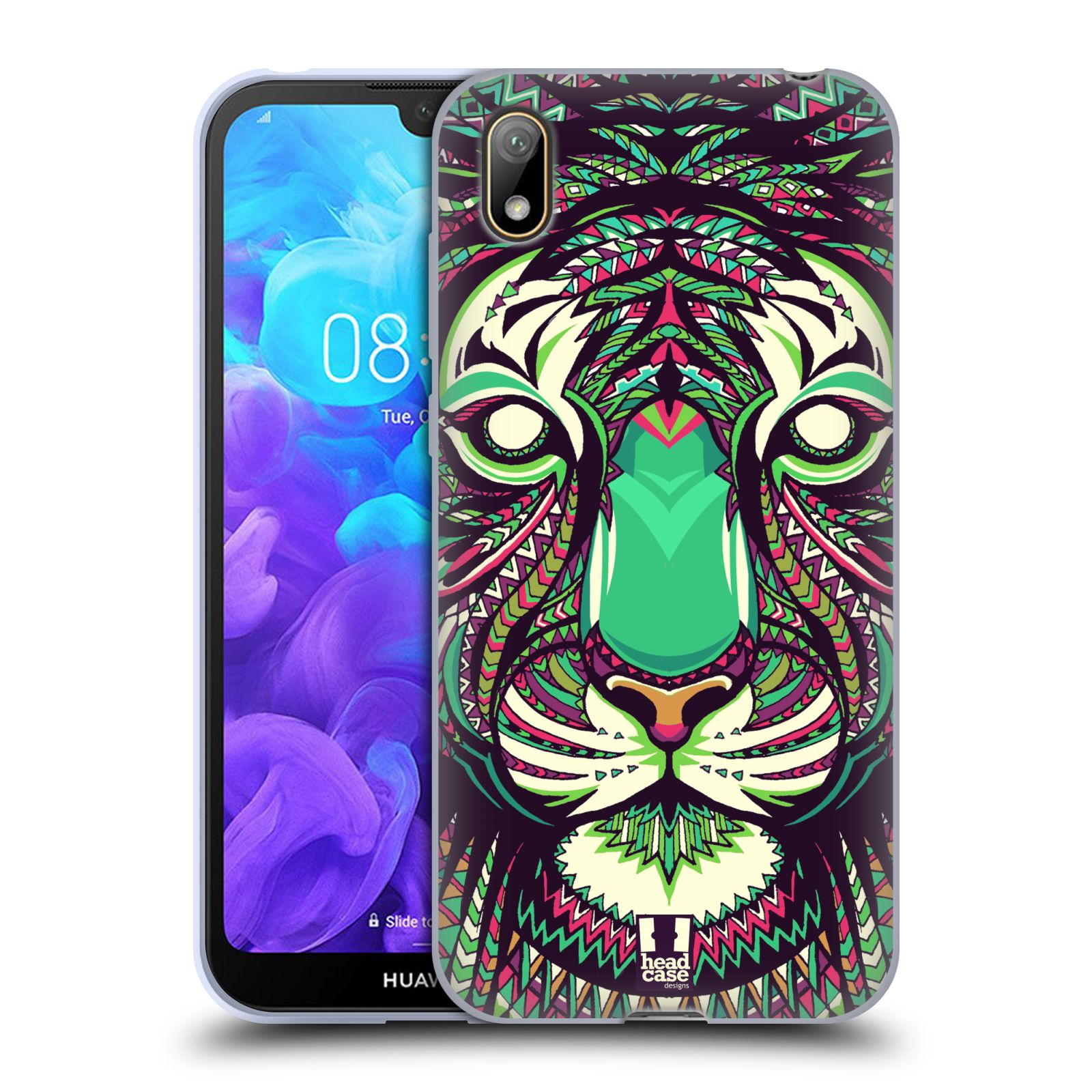 Silikonové pouzdro na mobil Huawei Y5 (2019) - Head Case - AZTEC TYGR