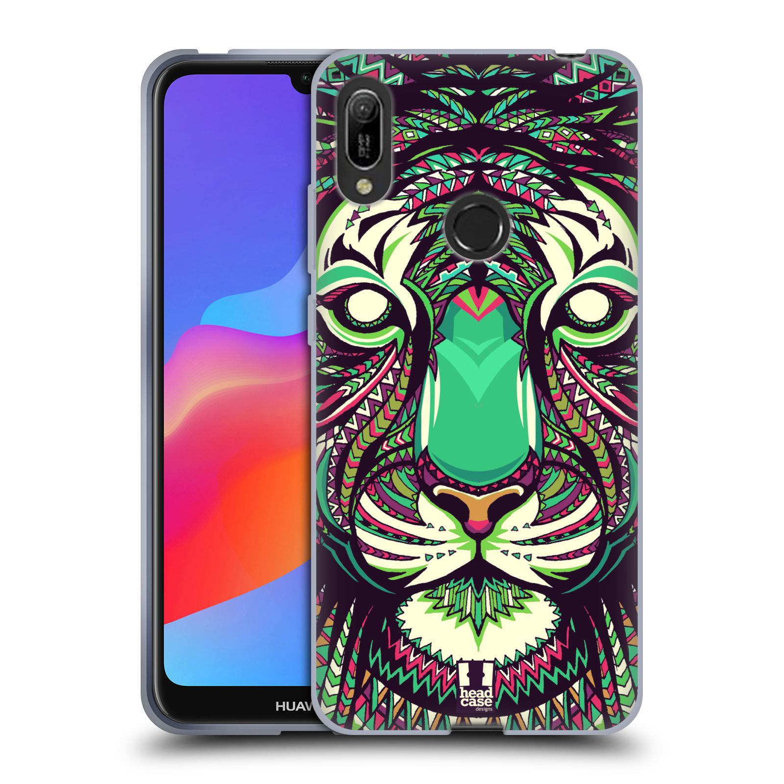 Silikonové pouzdro na mobil Huawei Y6 (2019) - Head Case - AZTEC TYGR