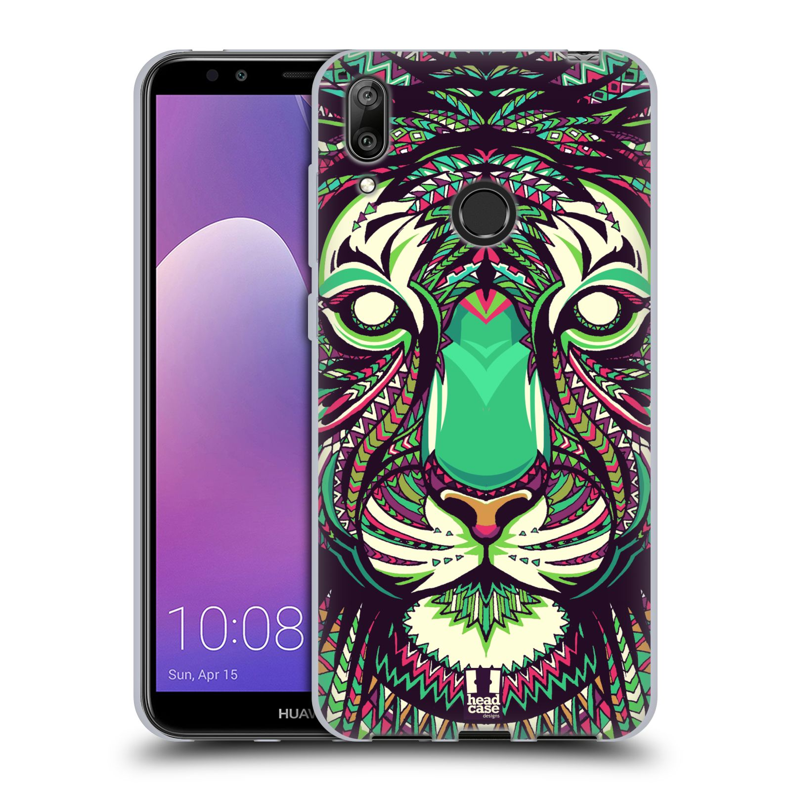 Silikonové pouzdro na mobil Huawei Y7 (2019) - Head Case - AZTEC TYGR