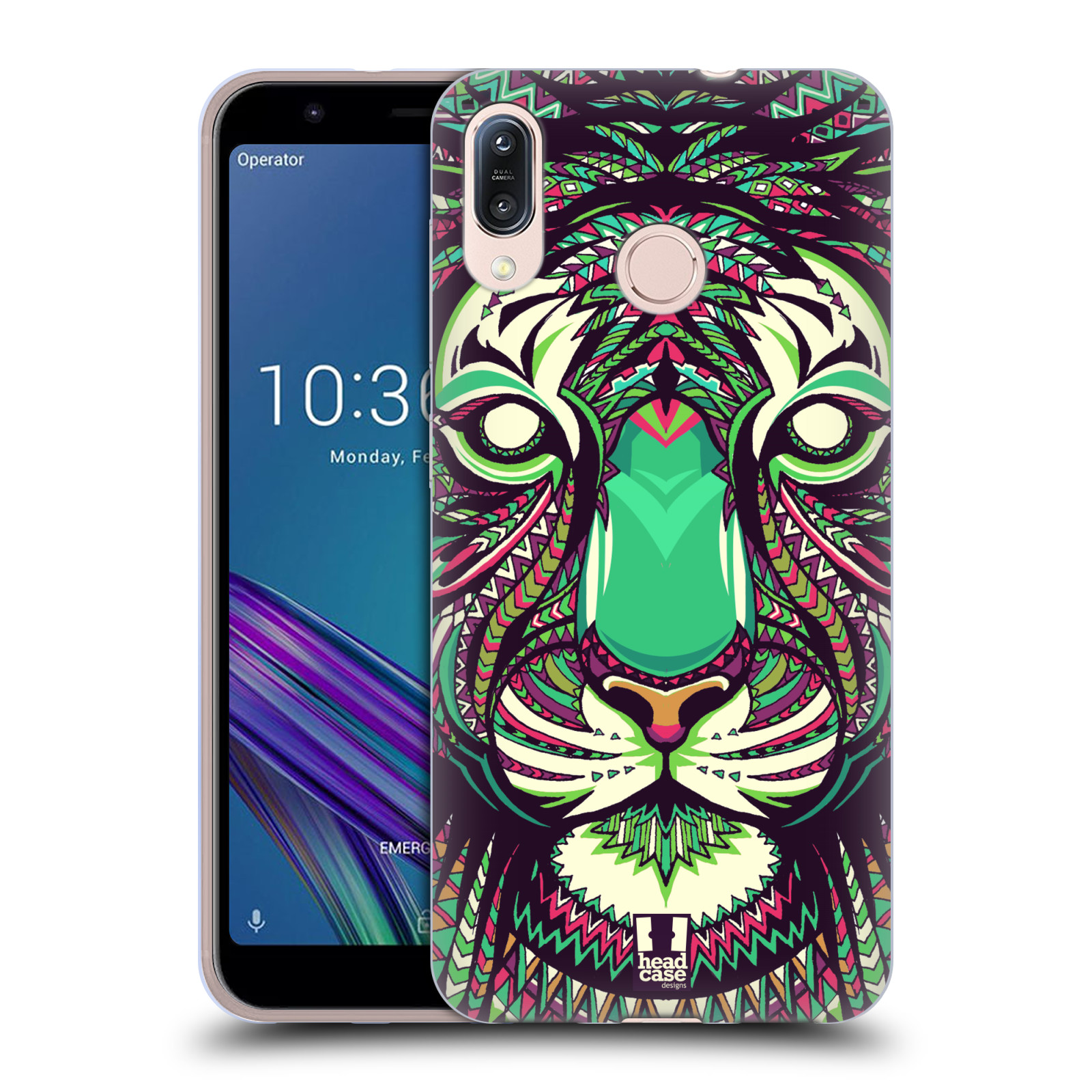 Silikonové pouzdro na mobil Asus Zenfone Max M1 ZB555KL - Head Case - AZTEC TYGR
