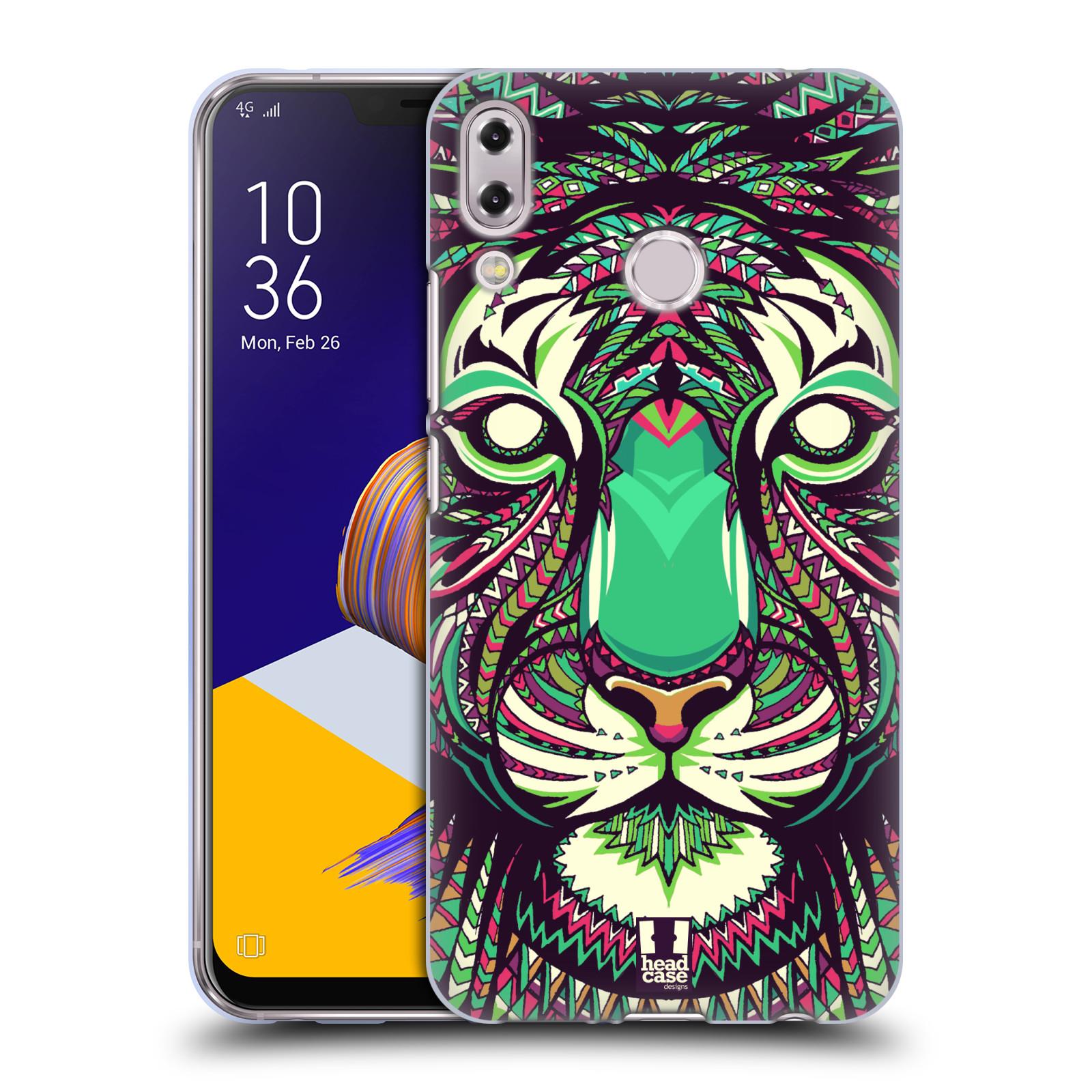 Silikonové pouzdro na mobil Asus Zenfone 5z ZS620KL - Head Case - AZTEC TYGR