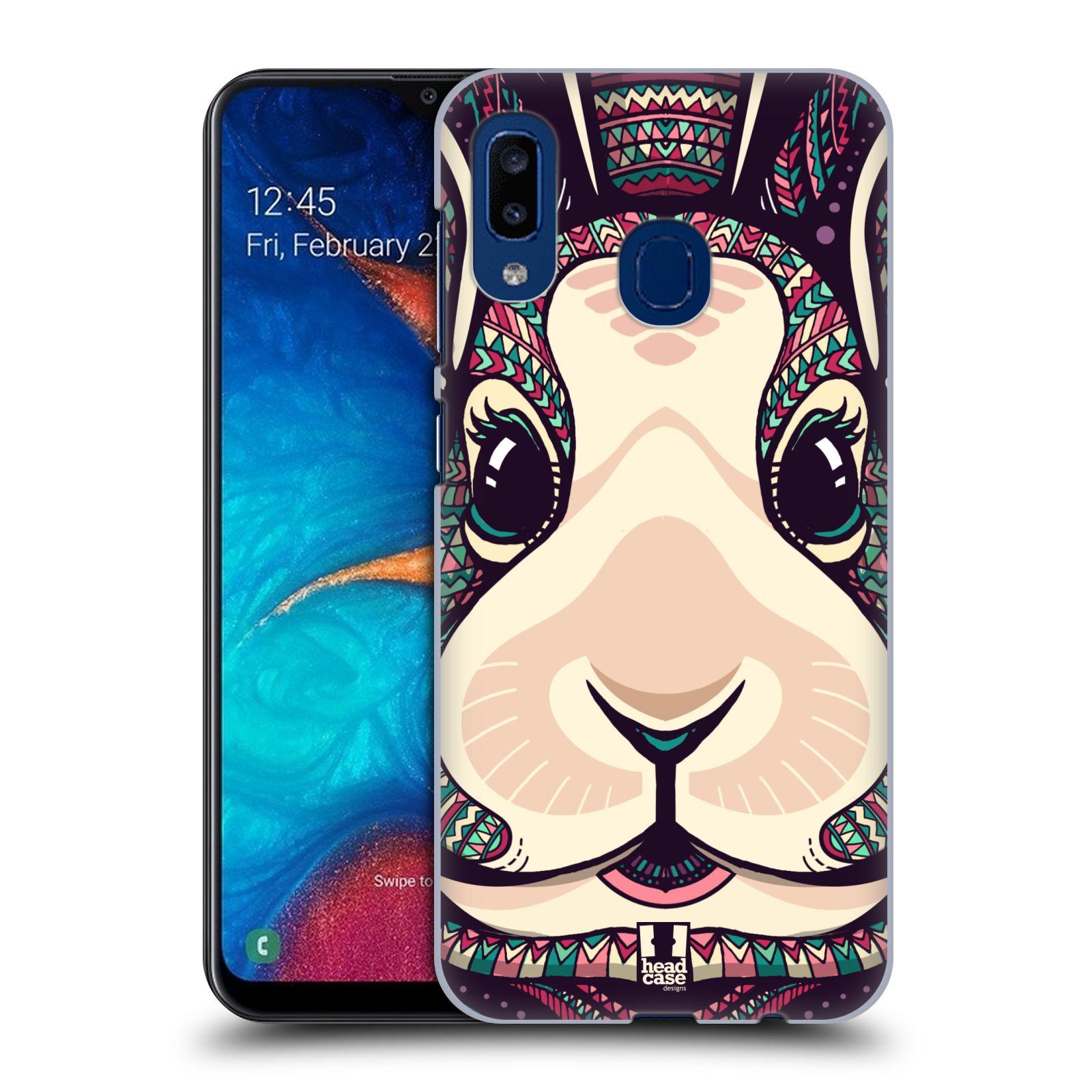 Plastové pouzdro na mobil Samsung Galaxy A20 - Head Case - AZTEC ZAJÍČEK