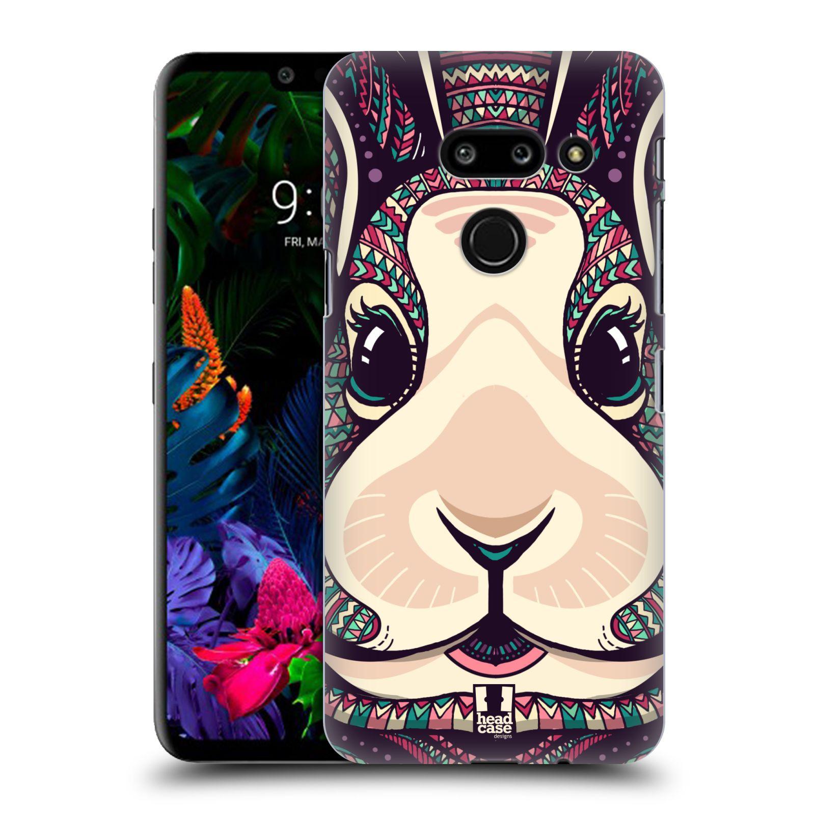 Plastové pouzdro na mobil LG G8 ThinQ - Head Case - AZTEC ZAJÍČEK