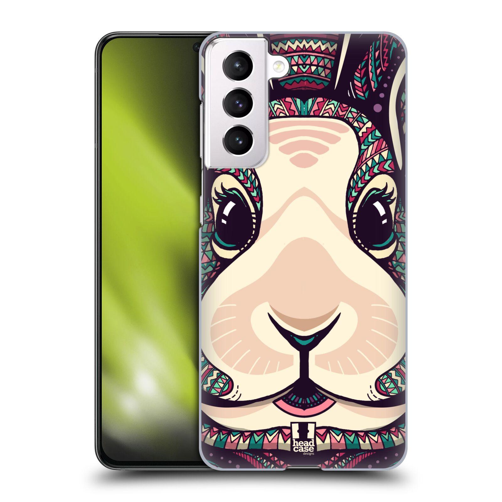 Plastové pouzdro na mobil Samsung Galaxy S21 5G - Head Case - AZTEC ZAJÍČEK