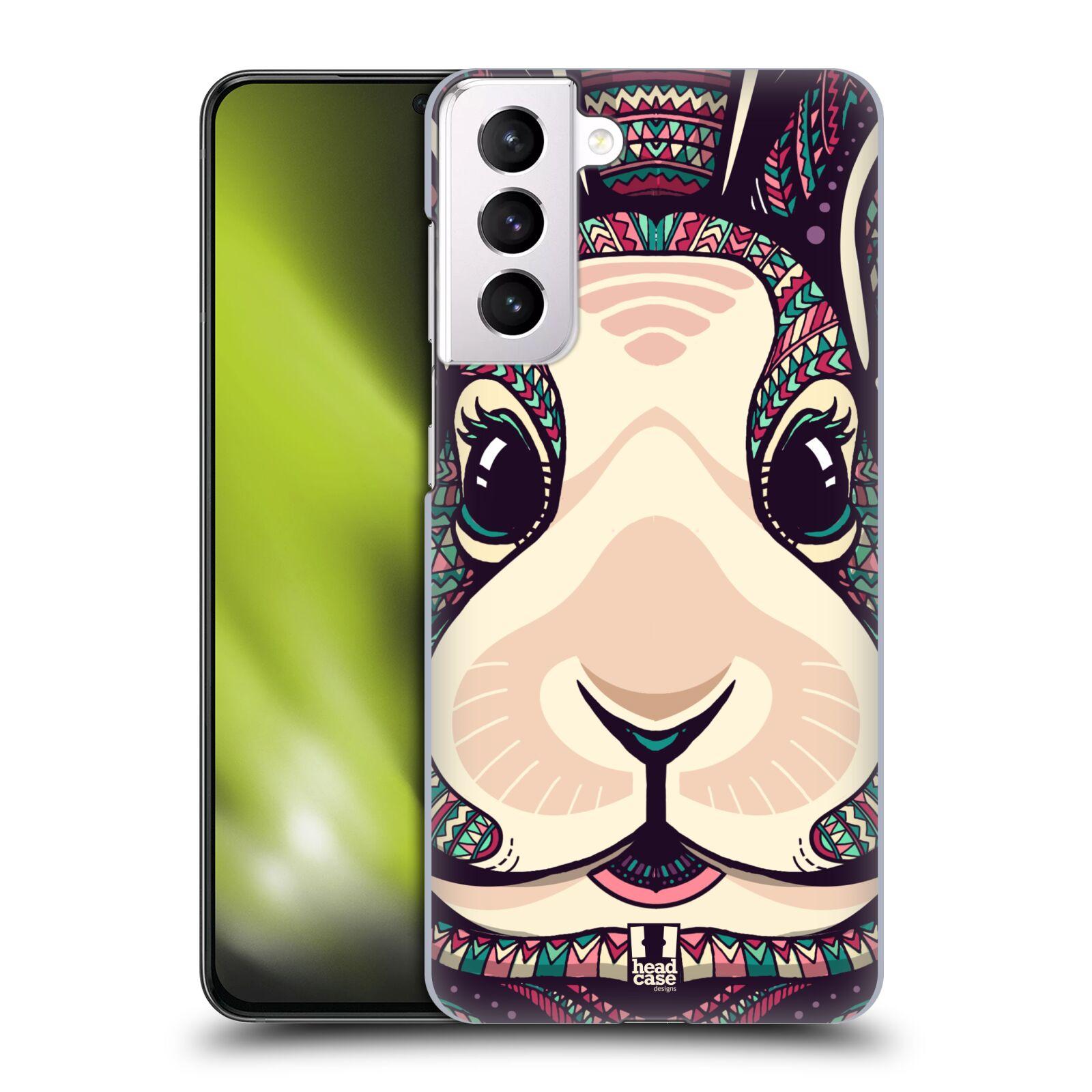 Plastové pouzdro na mobil Samsung Galaxy S21 Plus 5G - Head Case - AZTEC ZAJÍČEK