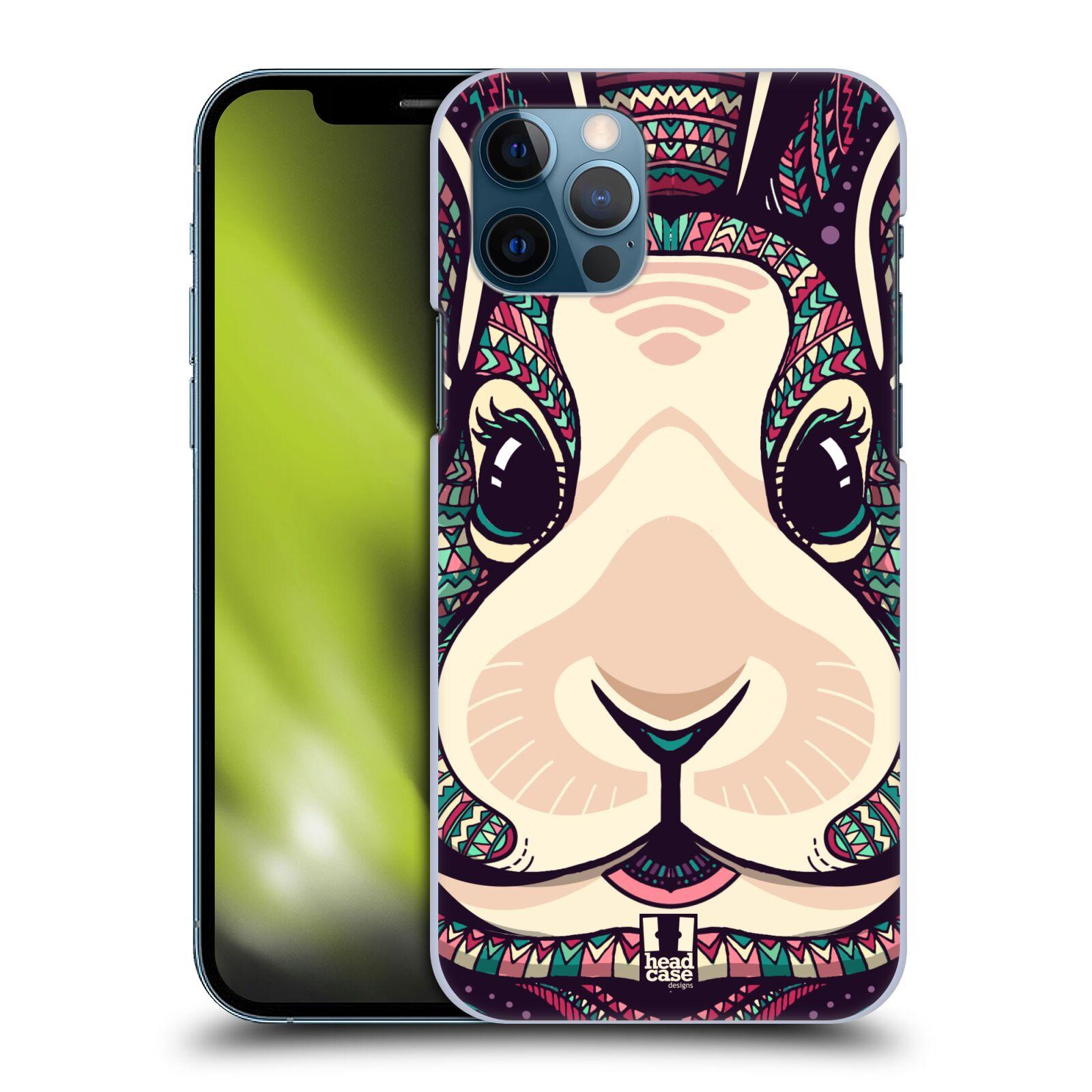 Plastové pouzdro na mobil Apple iPhone 12 / 12 Pro - Head Case - AZTEC ZAJÍČEK