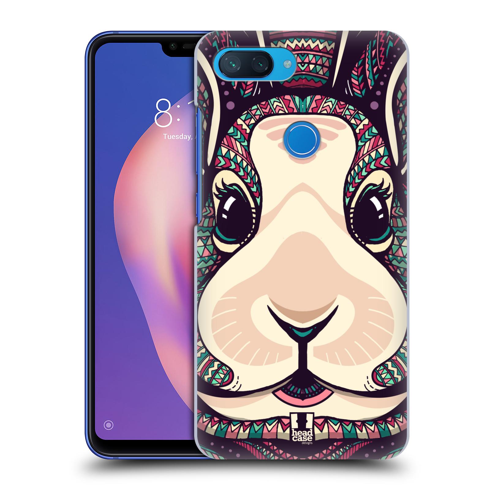 Plastové pouzdro na mobil Xiaomi Mi 8 Lite - Head Case - AZTEC ZAJÍČEK