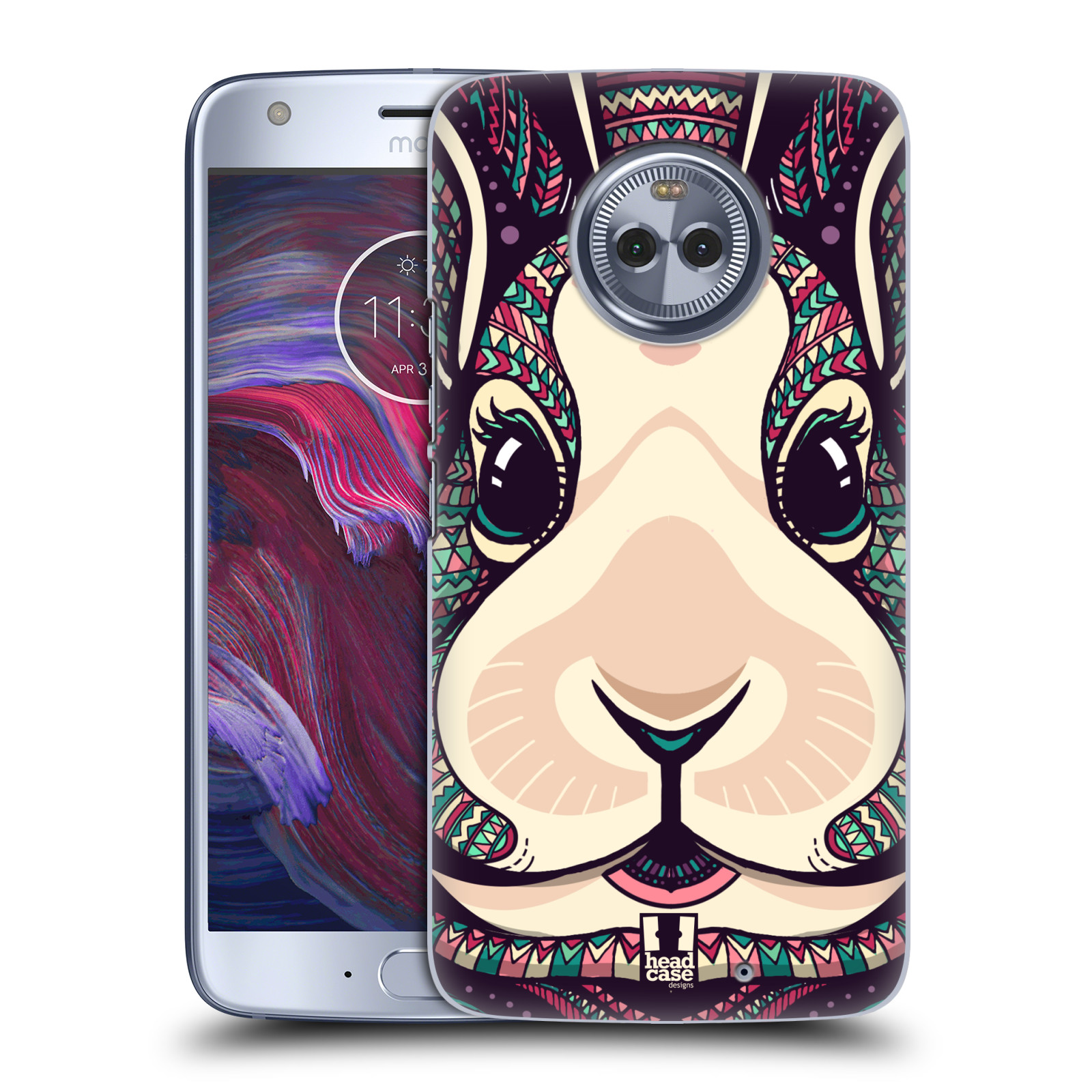 Plastové pouzdro na mobil Lenovo Moto X4 - Head Case - AZTEC ZAJÍČEK