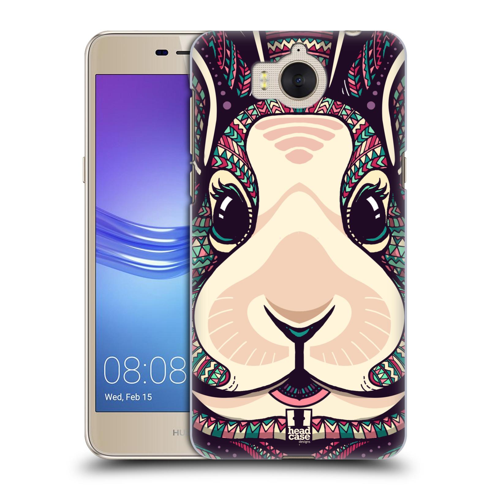 Plastové pouzdro na mobil Huawei Y6 2017 - Head Case - AZTEC ZAJÍČEK