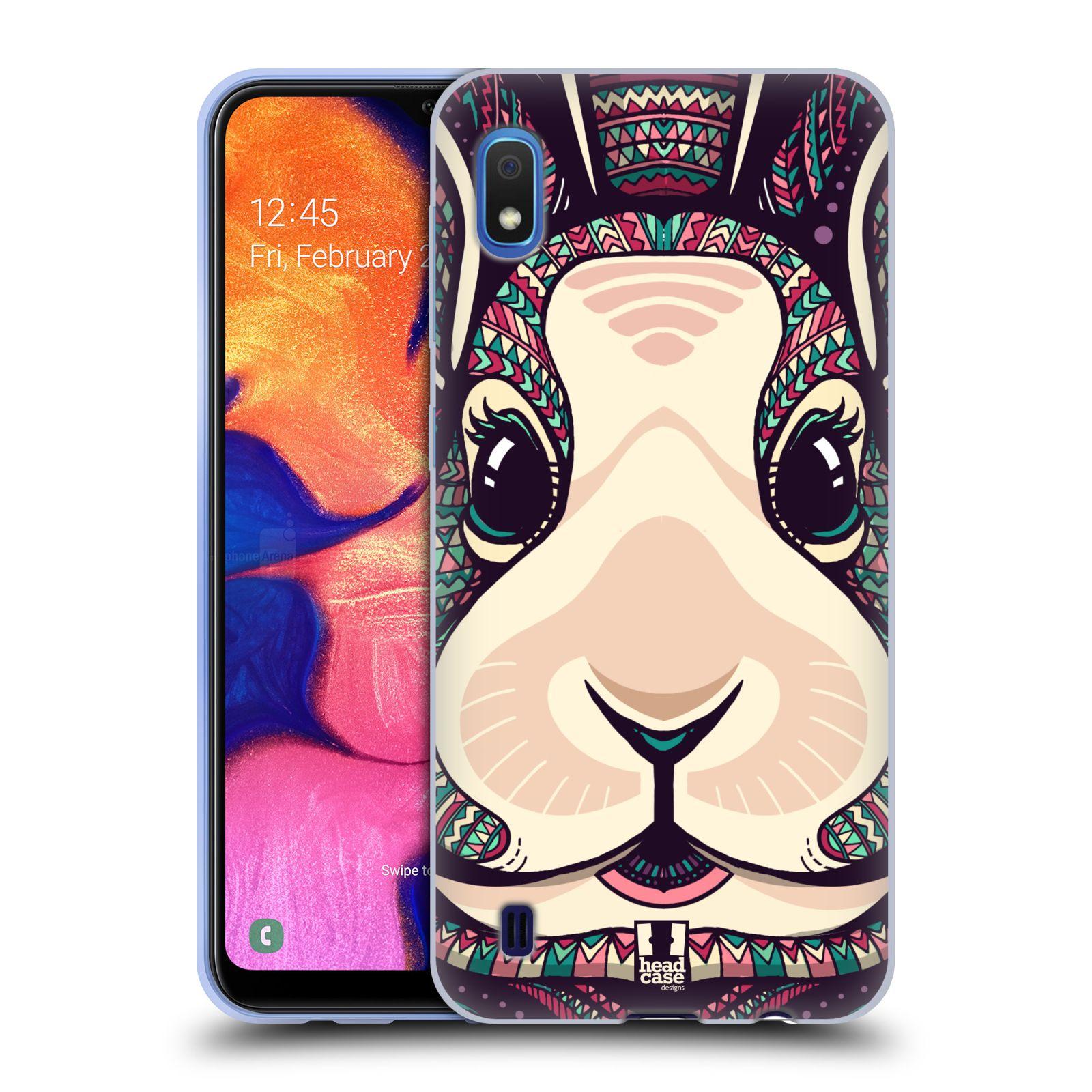Silikonové pouzdro na mobil Samsung Galaxy A10 - Head Case - AZTEC ZAJÍČEK