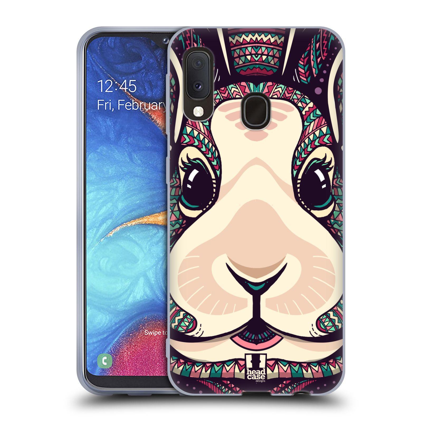 Silikonové pouzdro na mobil Samsung Galaxy A20e - Head Case - AZTEC ZAJÍČEK