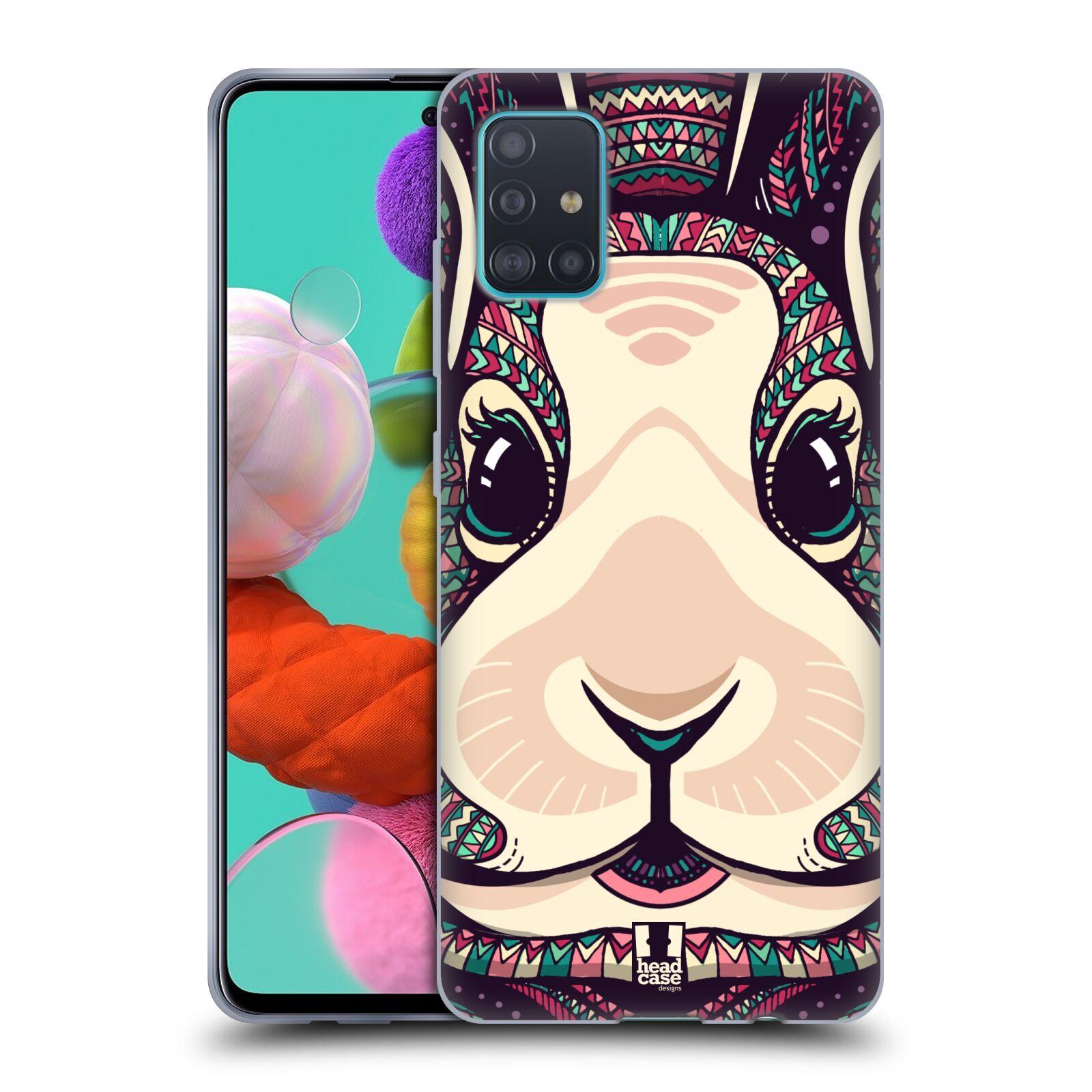 Silikonové pouzdro na mobil Samsung Galaxy A51 - Head Case - AZTEC ZAJÍČEK