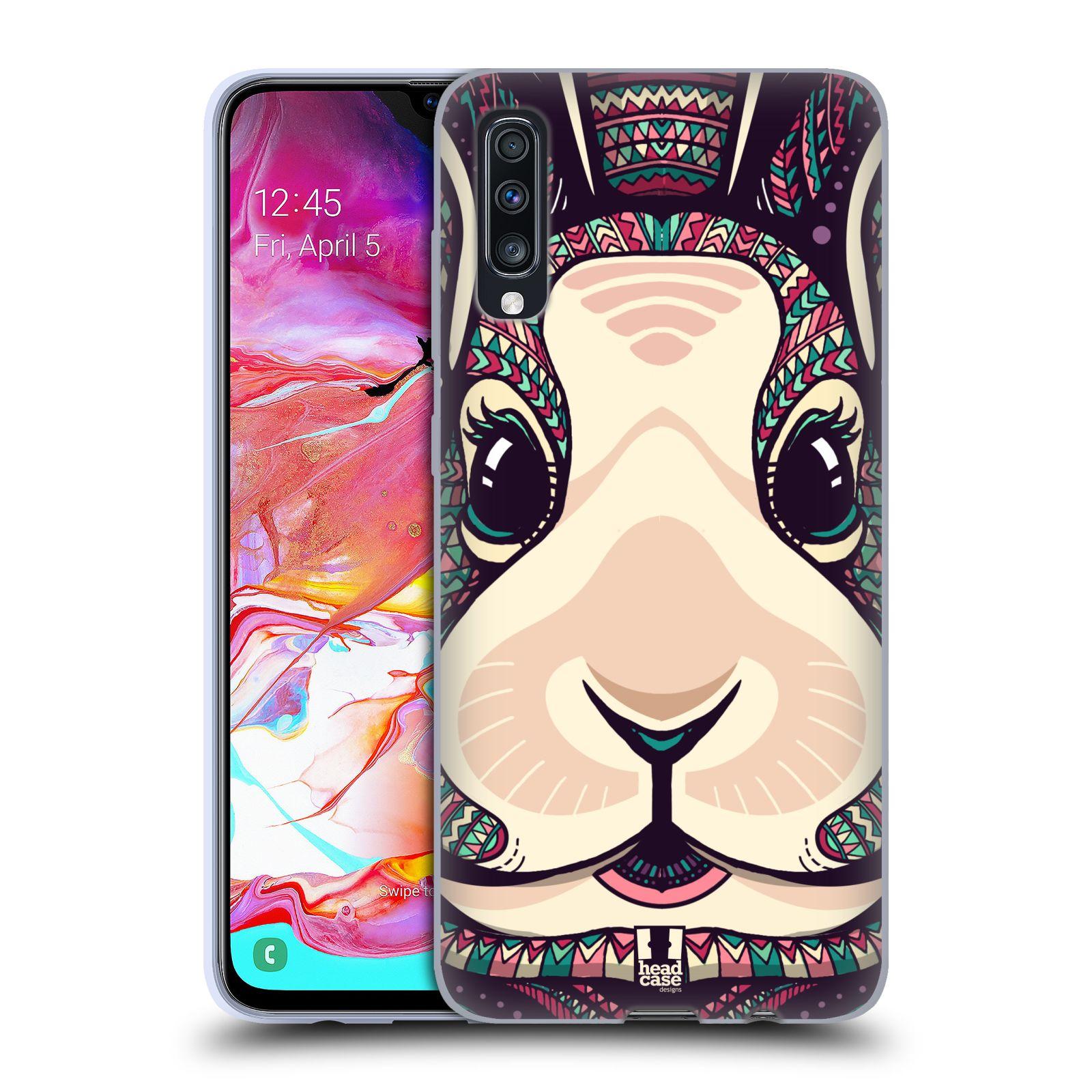 Silikonové pouzdro na mobil Samsung Galaxy A70 - Head Case - AZTEC ZAJÍČEK